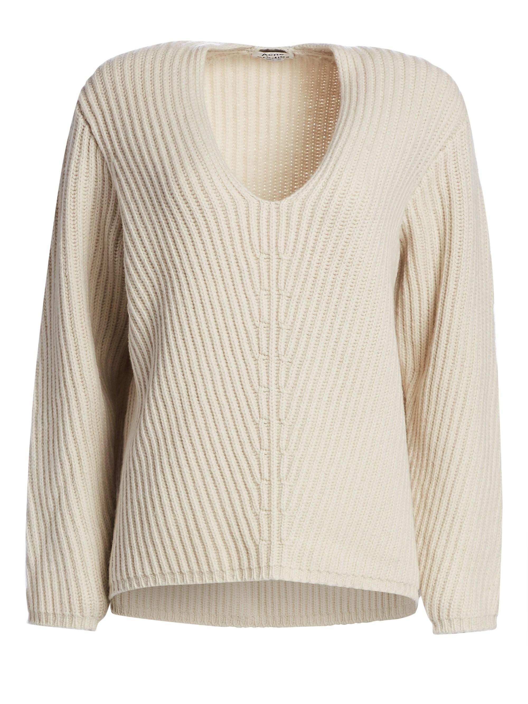 c6ff0f089cf7 Lyst - Acne Studios Wool V-neck Sweater
