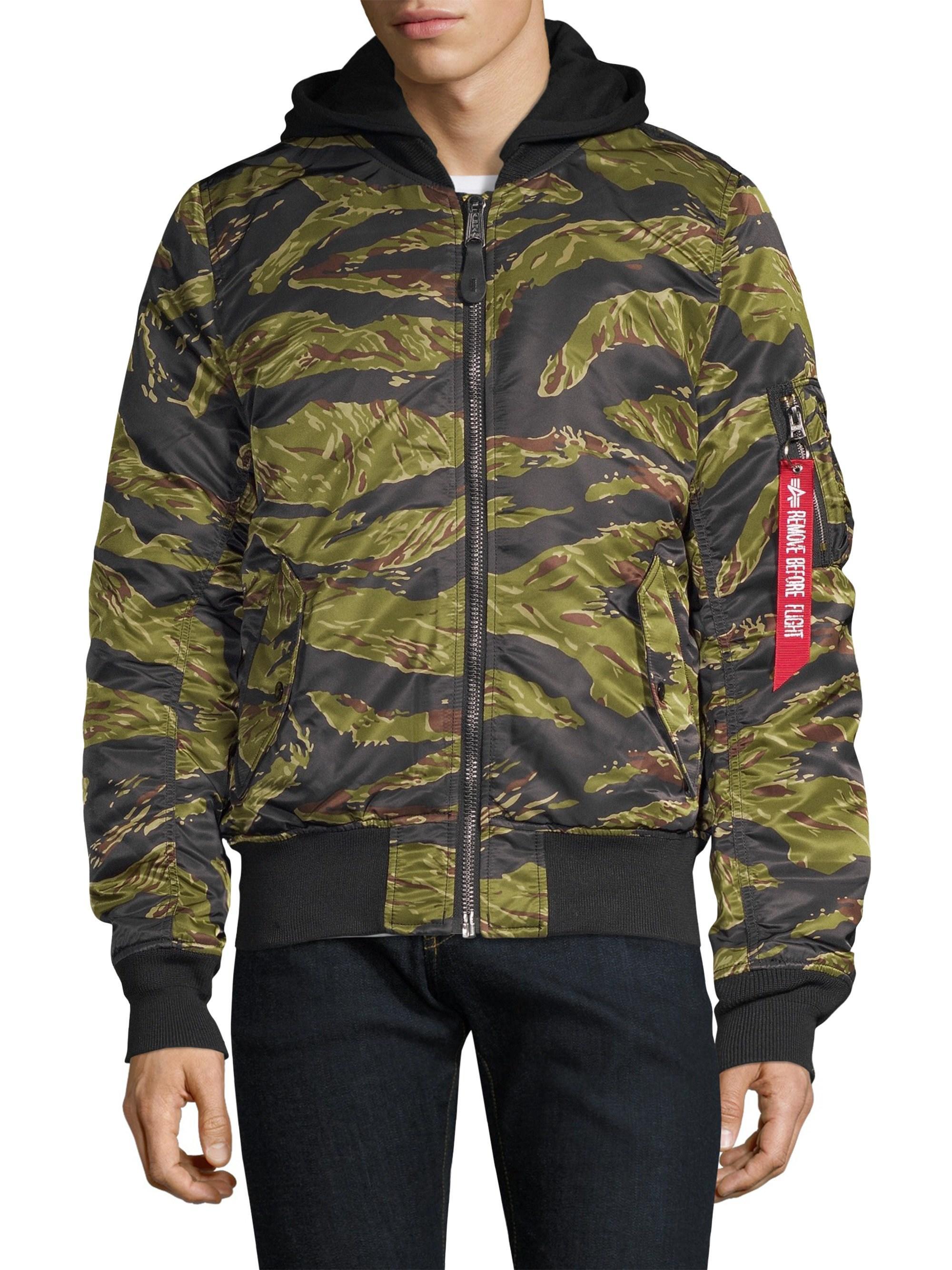 bdddd2ff060fd Alpha Industries Natus Tiger Camouflage Nylon Jacket for Men - Lyst