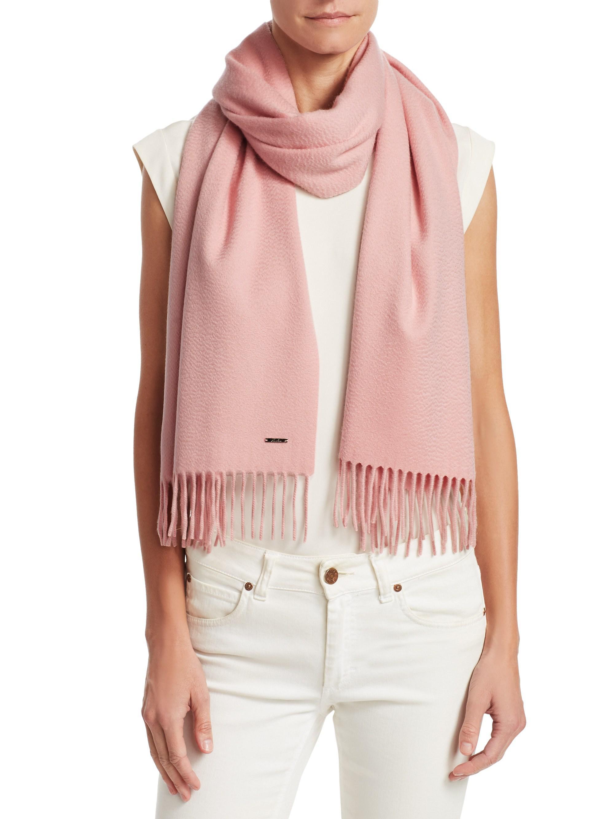 selezione migliore 1b371 b86c4 Women's Pink Sciarpa Grande Cashmere Scarf
