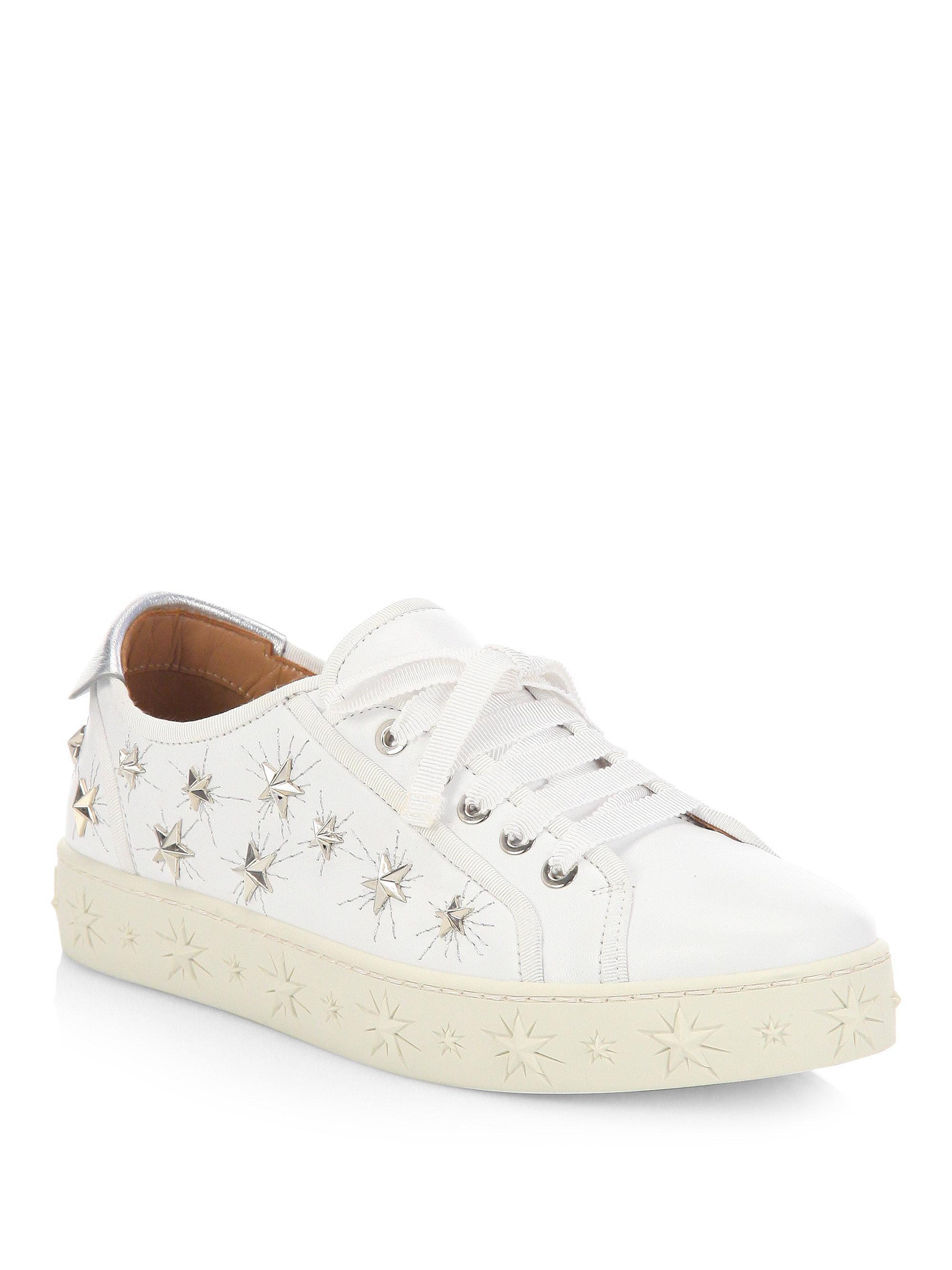 Aquazzura Cosmic Star leather sneakers az59U5lVF