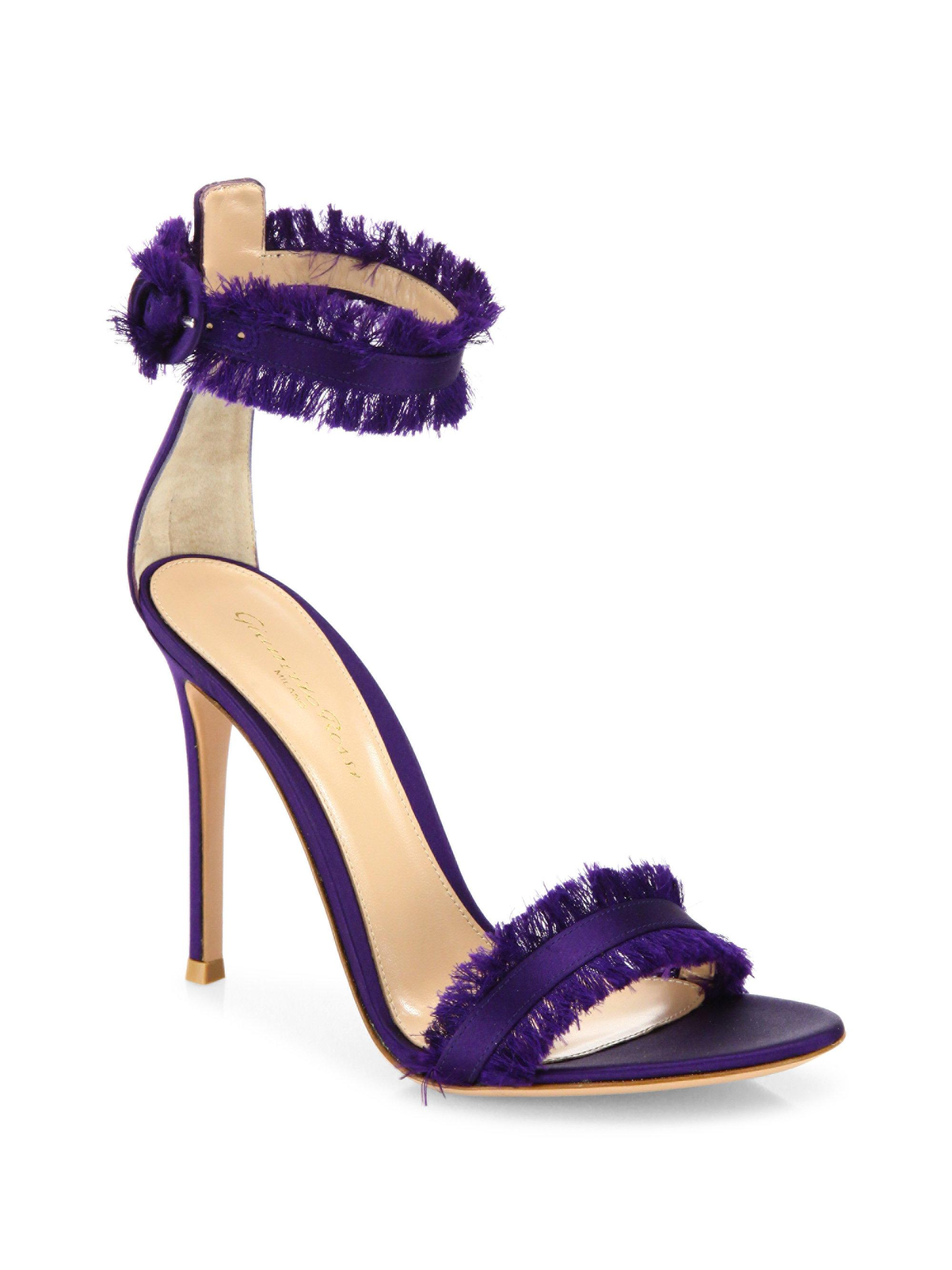 best store to get cheap online Gianvito Rossi Canvas Ankle Strap Sandals big sale cheap online 6XERTOy