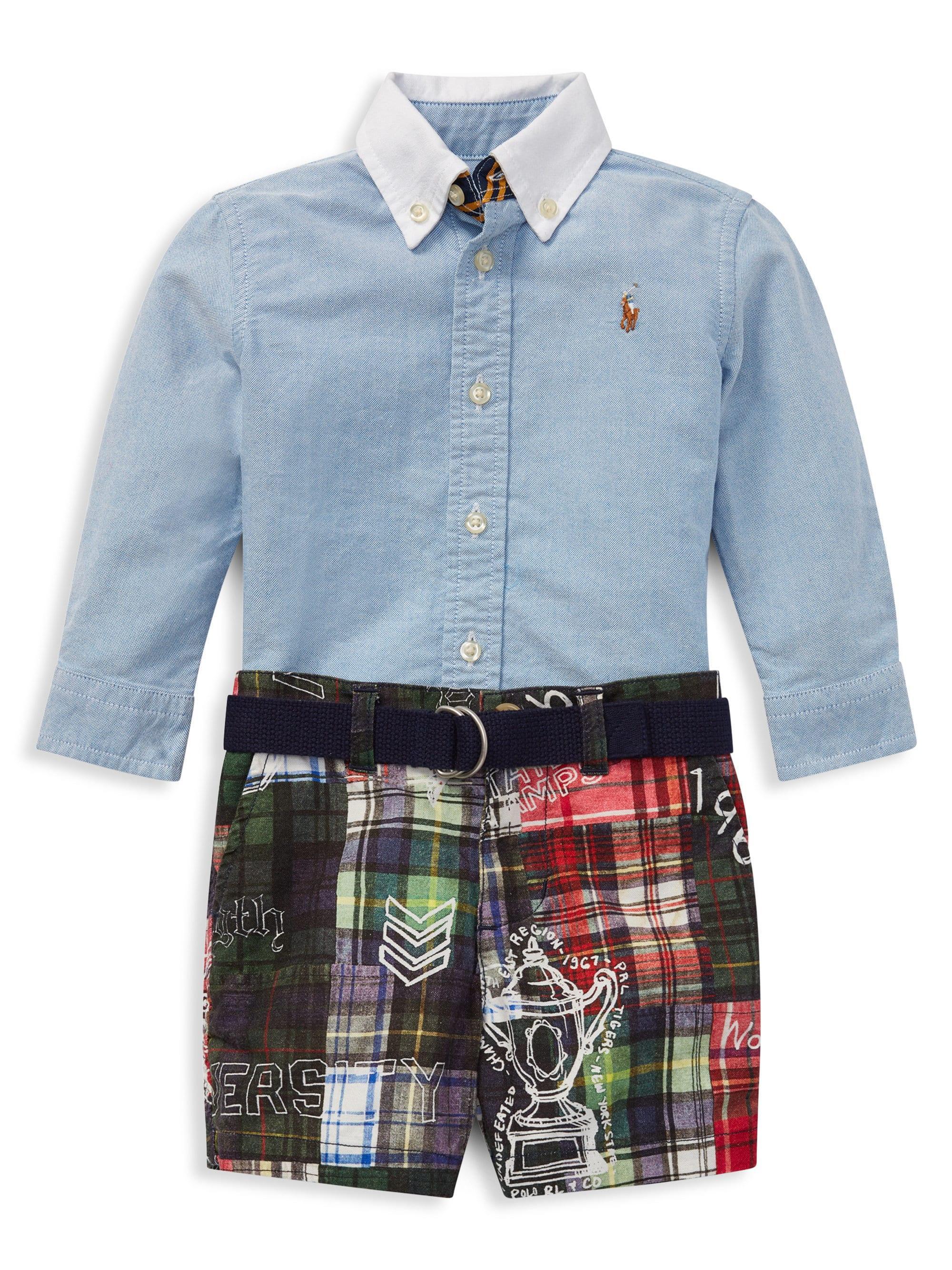 3e516d6d4 Lyst - Ralph Lauren Baby Boy's Three-piece Cotton Collared Shirt ...
