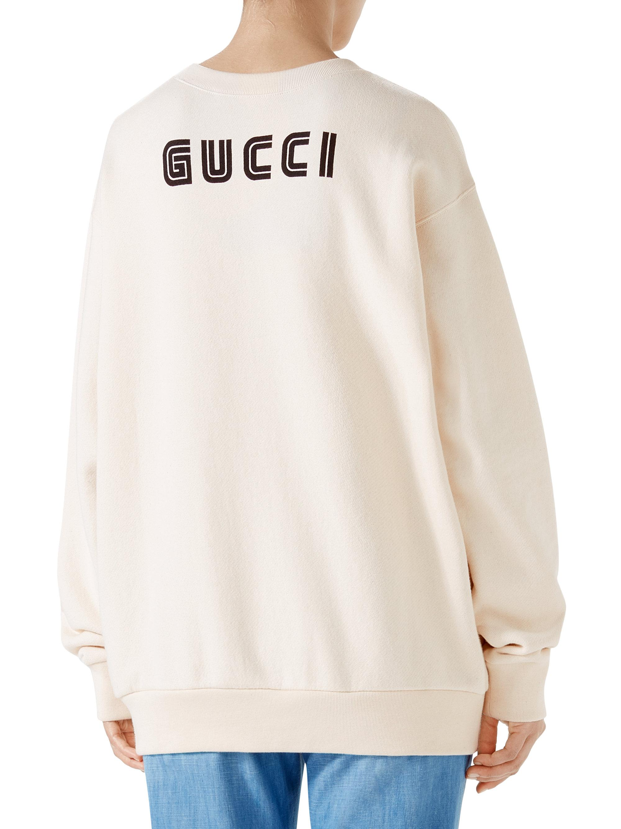 b8680f3d862 Lyst - Gucci Sequin Snow White Sweatshirt in White