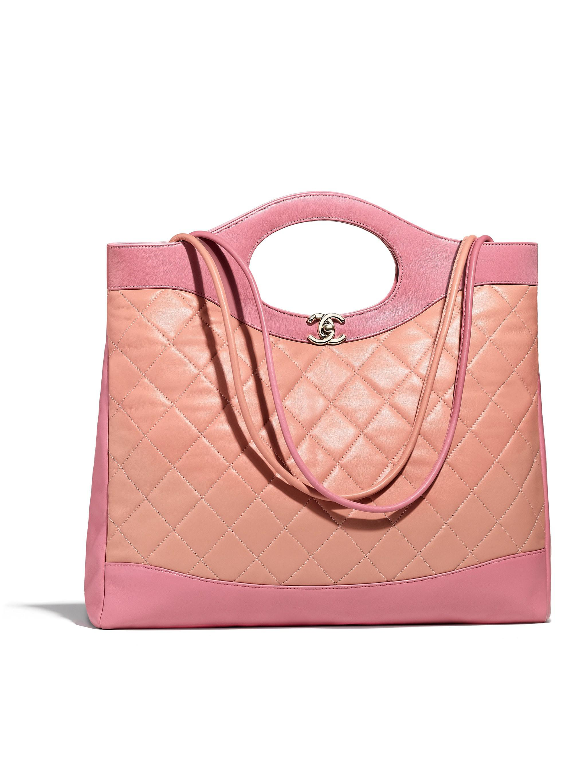 acff7f5c5eec Lyst - Chanel 31 Large Shopping Bag in Pink