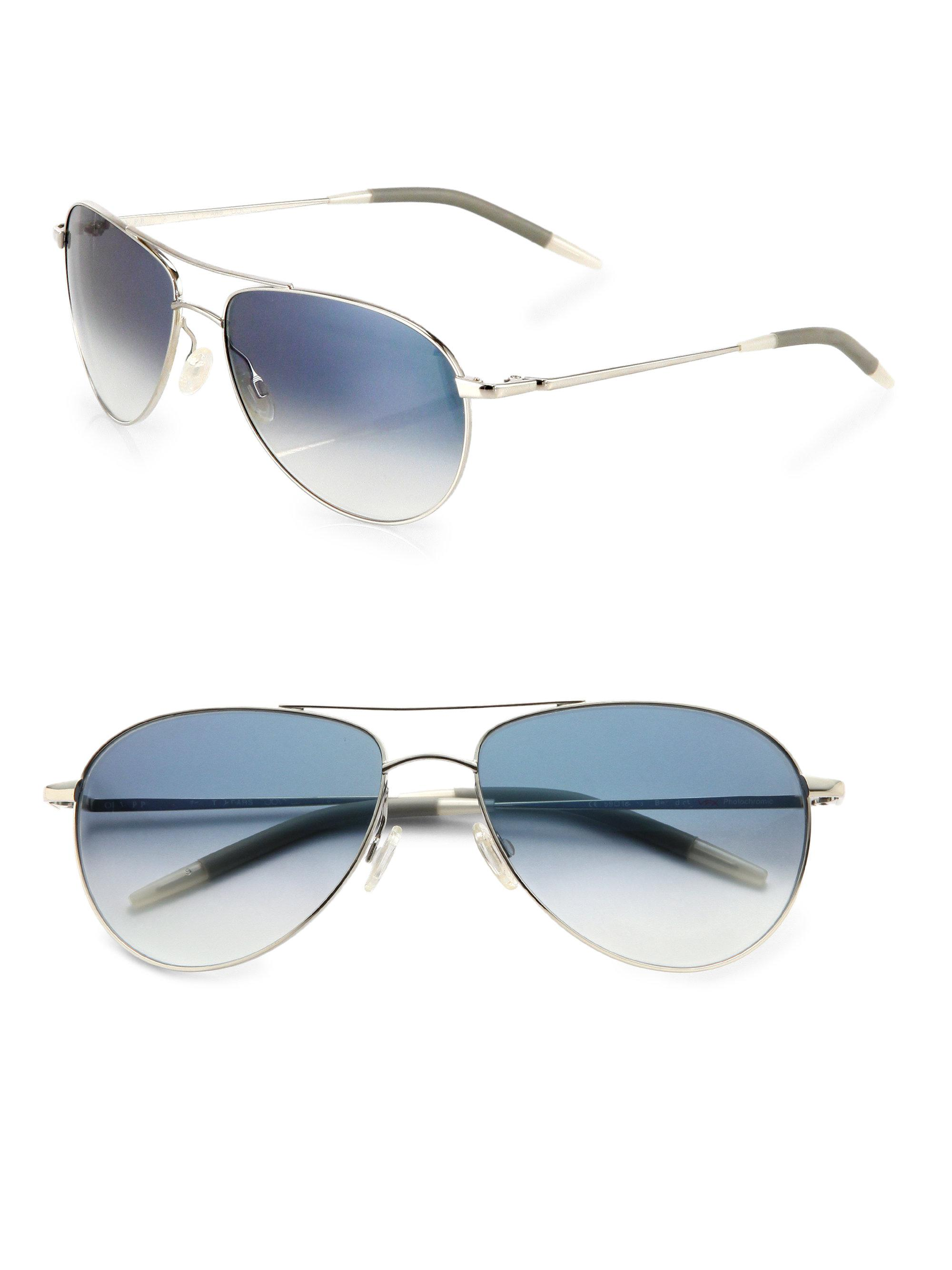 d32bb5d5ad3 Oliver Peoples Benedict Aviator Sunglasses in Metallic for Men - Lyst