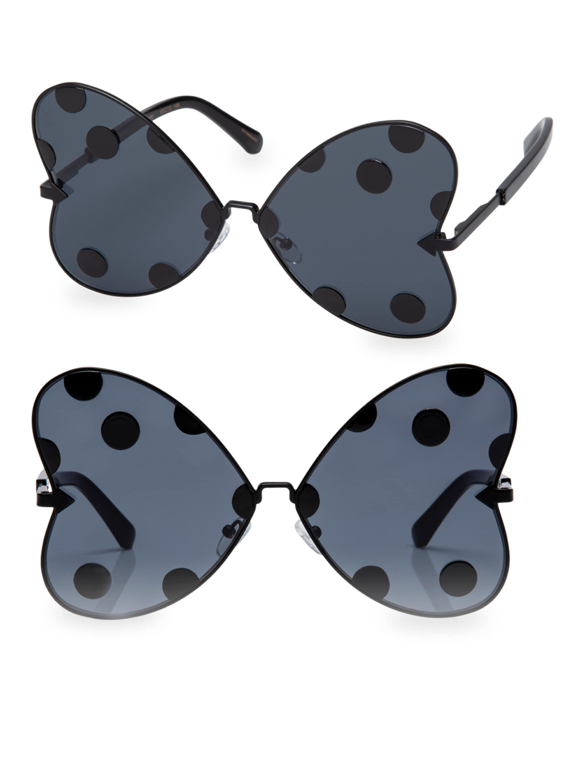 6e902b770f8 Karen Walker. Women s Black X Disney Minnie Bow 63mm Butterfly Sunglasses