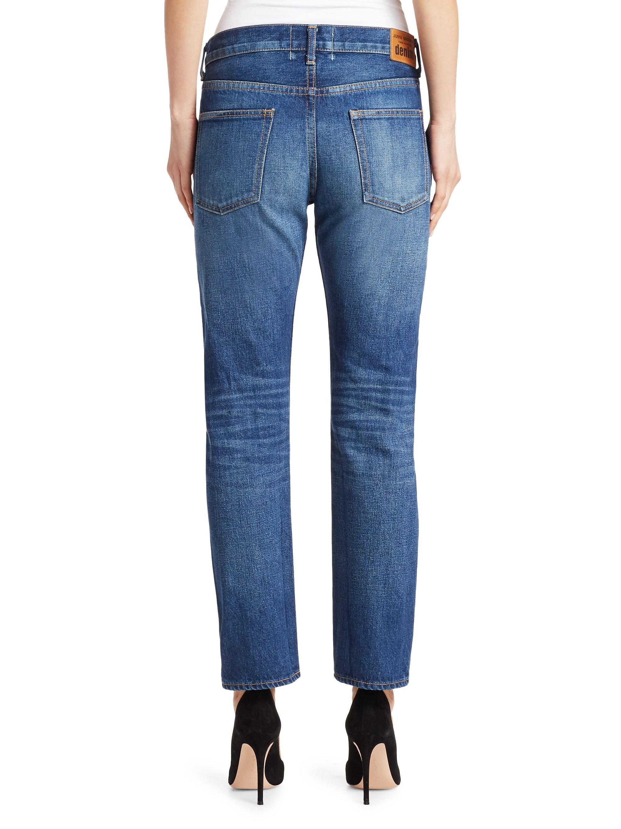 6190c91e2437d Junya Watanabe Patchwork Lace Selvedge Denim Jeans in Blue - Lyst