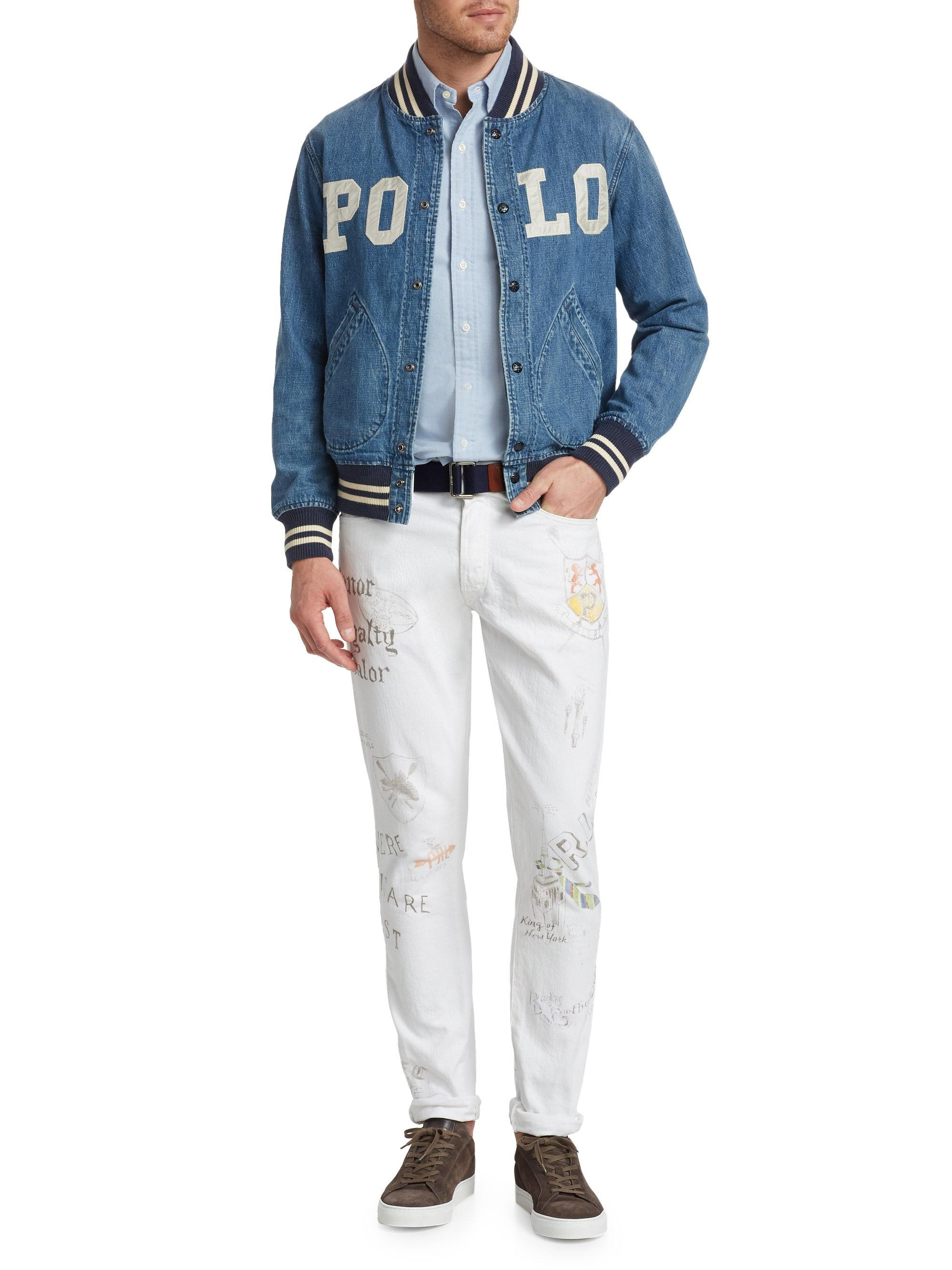 87b2a30b3cdb Polo Ralph Lauren - White Sullivan Slim Print Jeans for Men - Lyst. View  fullscreen