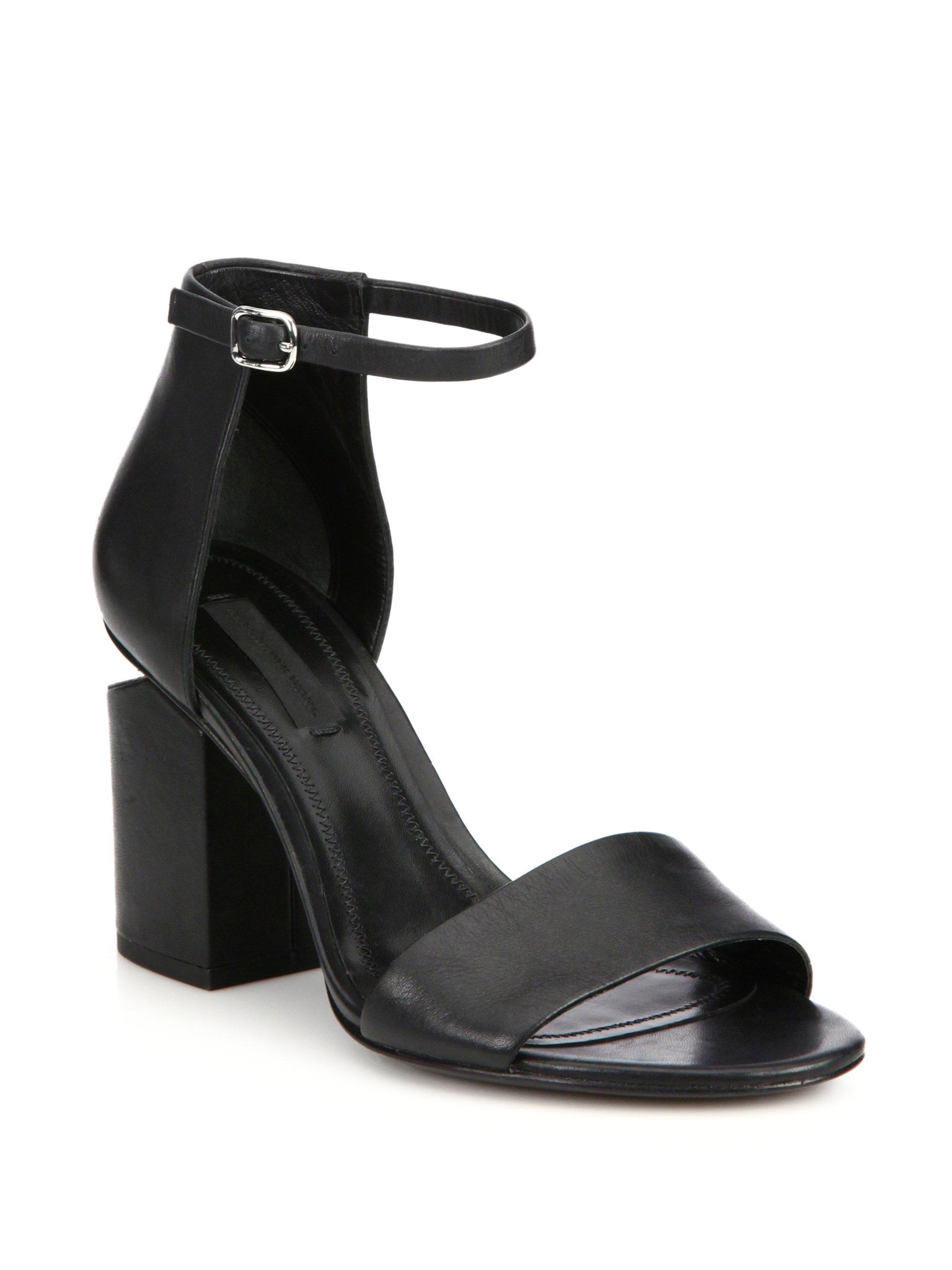 Alexander Wang Abby Tilt-Heel Leather Ankle-Strap Sandals Tj3vA7oFD