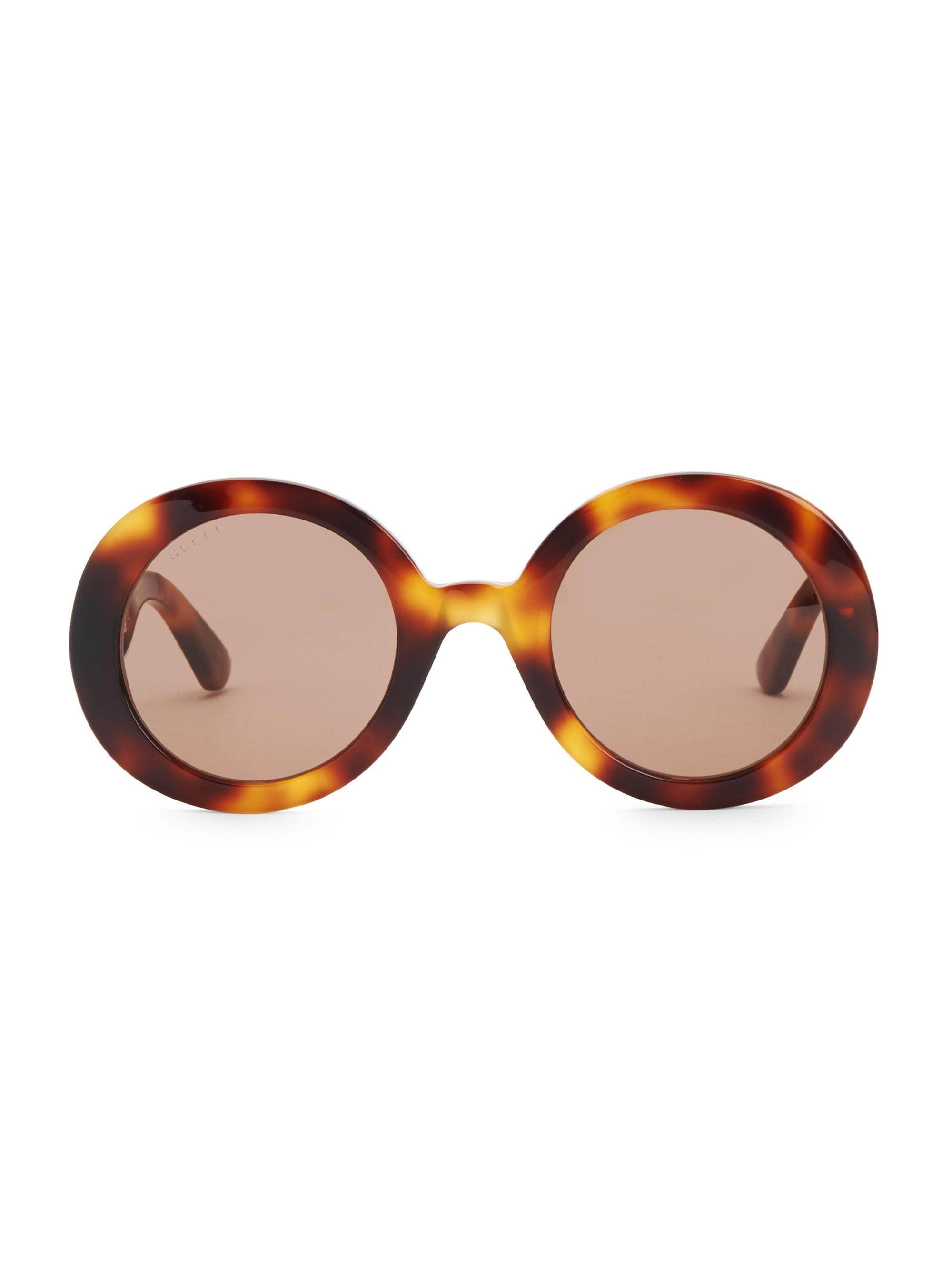 ab6023bf0a009 Lyst - Gucci Urban 52mm Round Sunglasses in Brown
