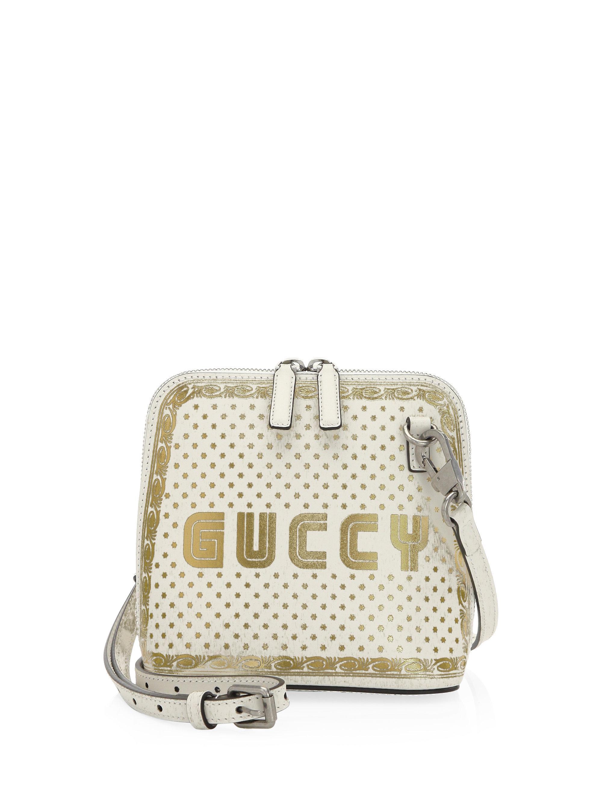 Gucci Leather Mini Guccy Sega® Print