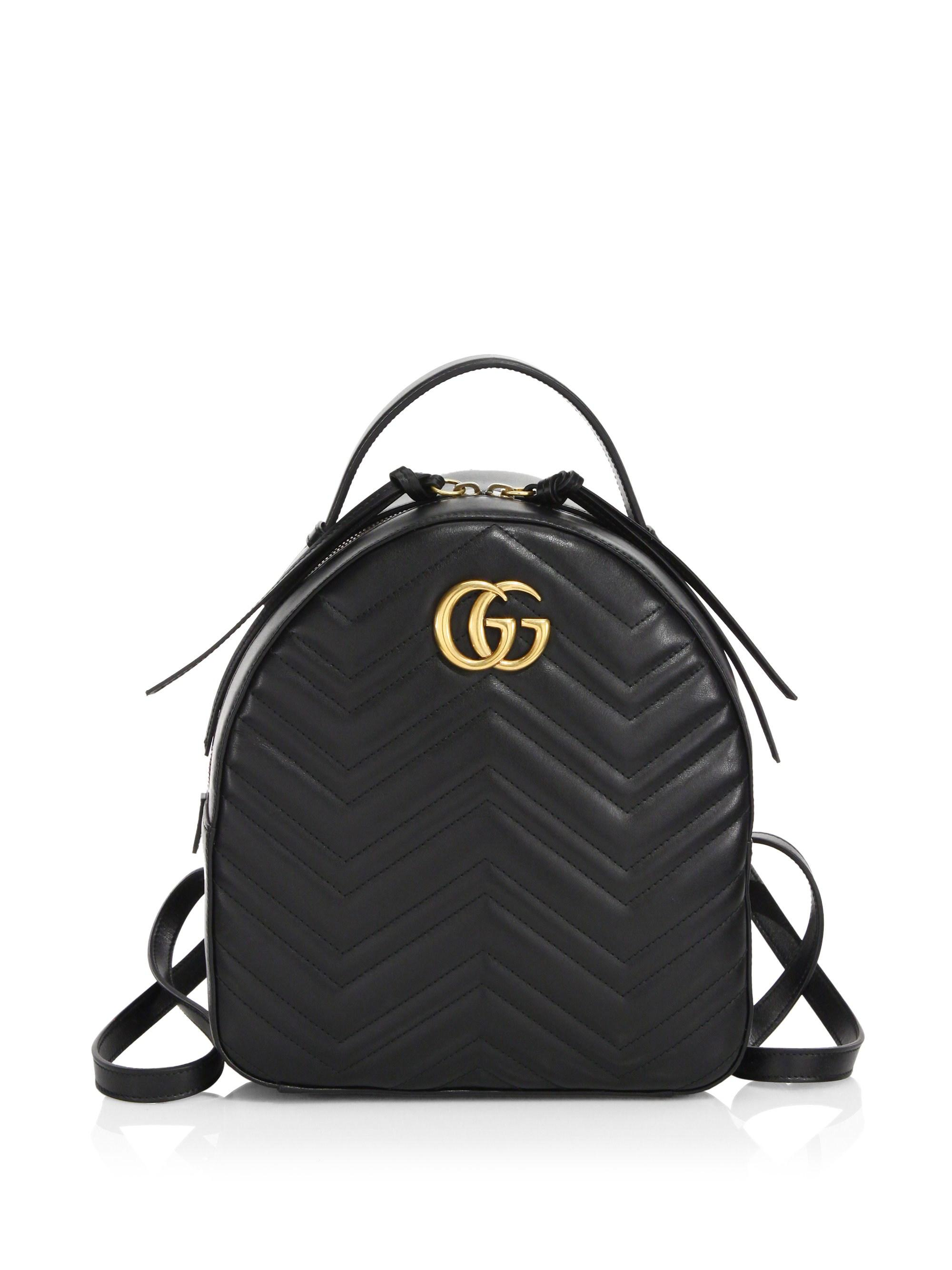 new items best deals on brand quality GG Marmont Chevron Quilted Leather Mini Backpack