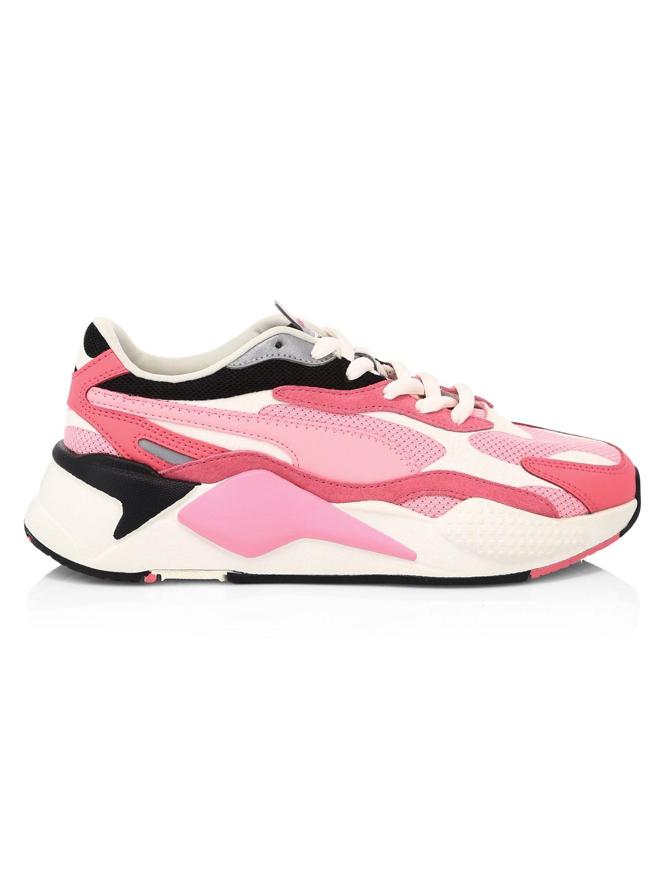 PUMA Leather Rs-x Cubed in Pink/Pink