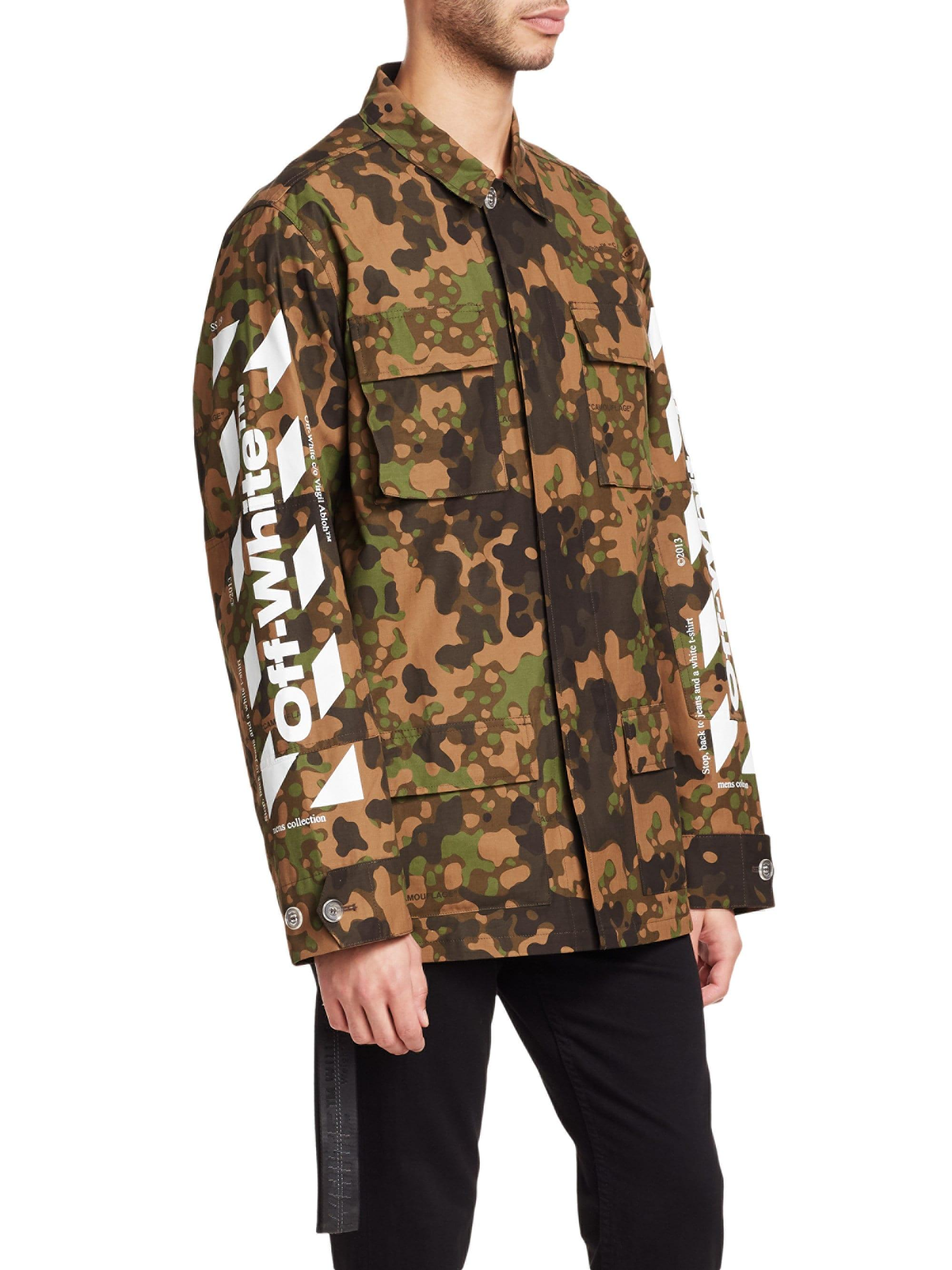 f637bf0316dd Off-White c o Virgil Abloh Camo Field Jacket for Men - Lyst