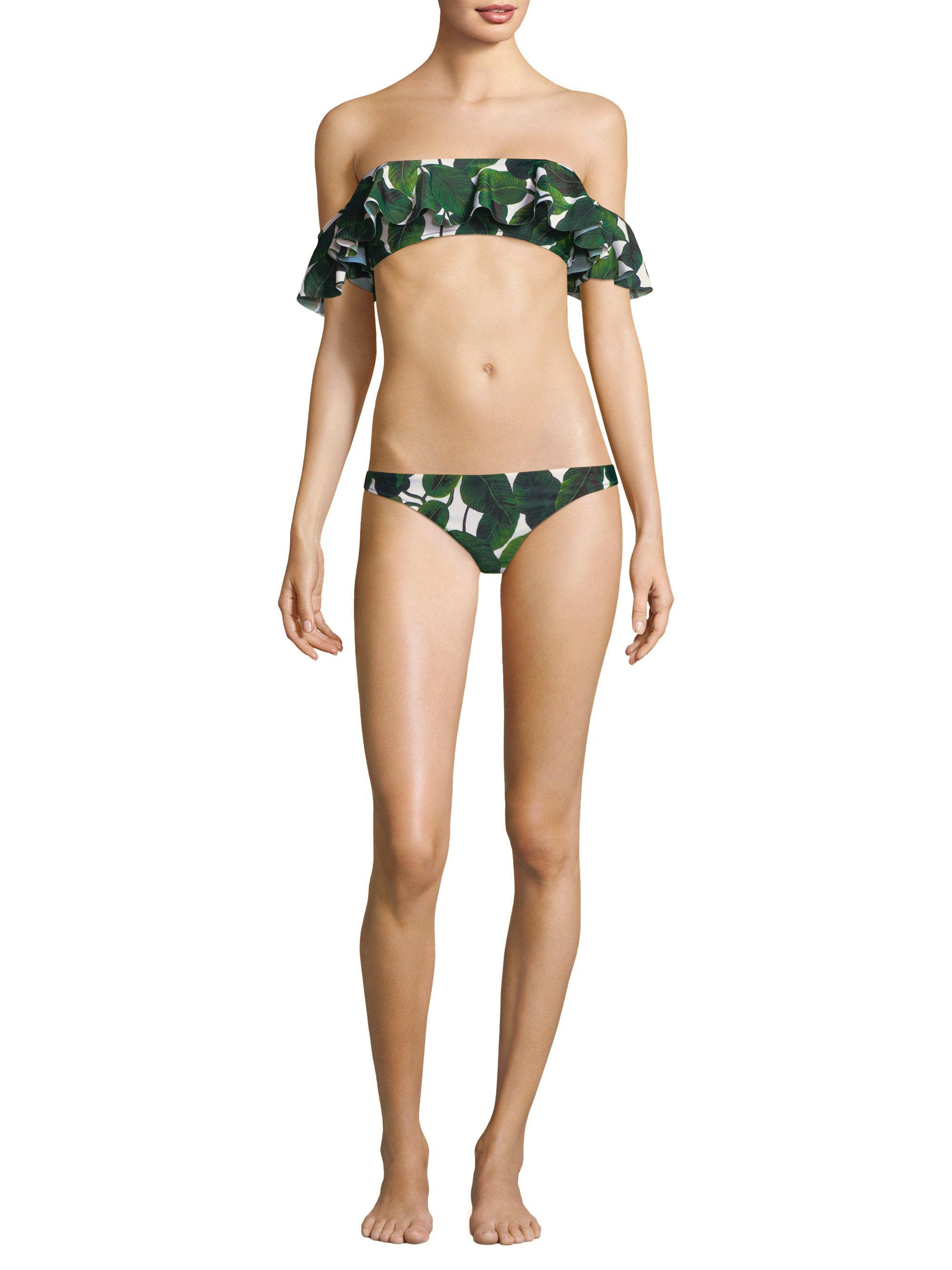 275a65e3d0 MILLY - Green St Lucia Printed Bikini Bottom - Lyst. View fullscreen