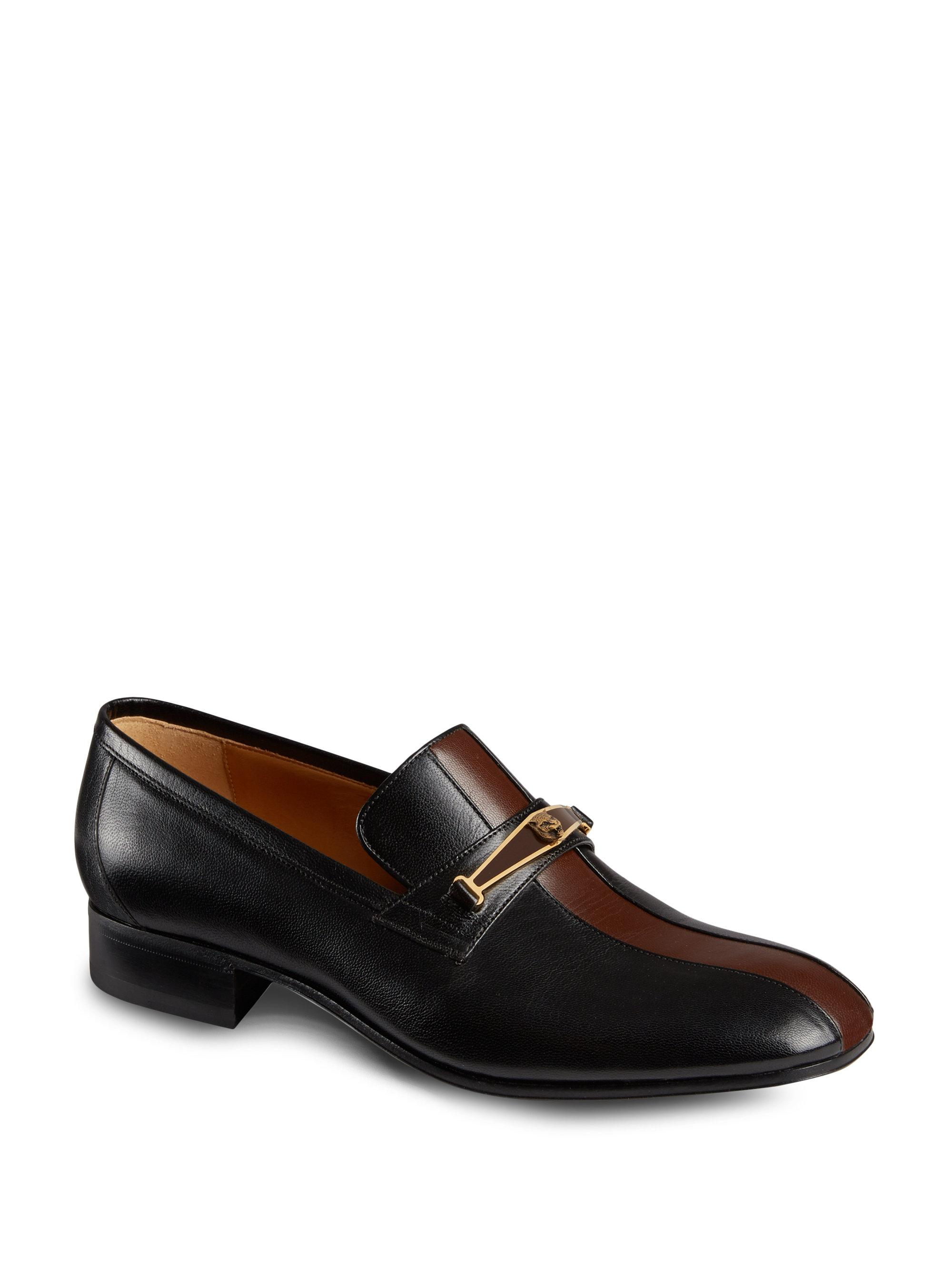 aAdR31dhaL Leather Fox Head Loafers pXt6rPX