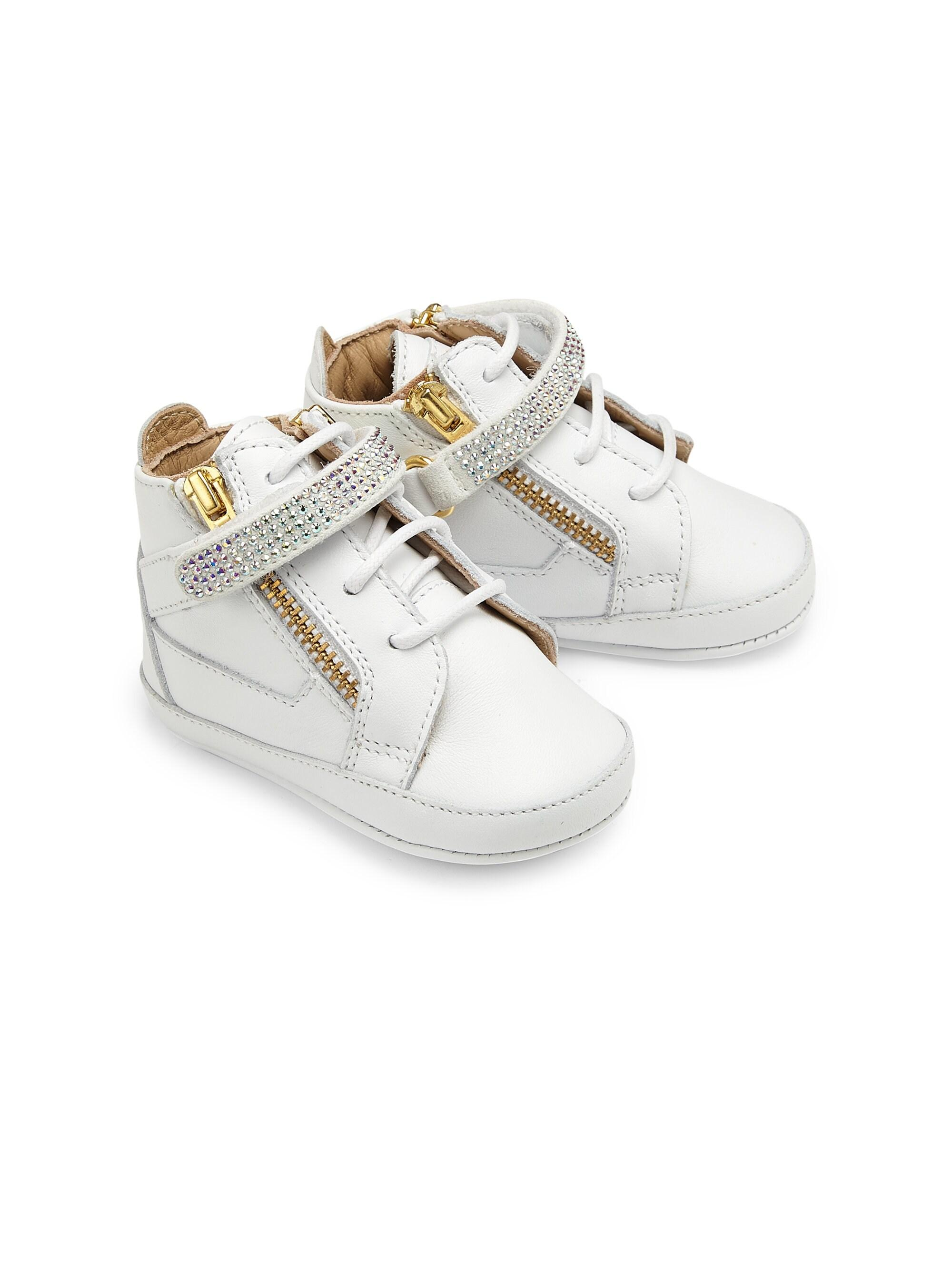 a2a4730a286de Tap to visit site. Giuseppe Zanotti - Baby's Swarovski Crystal Embellished  Leather Crib Sneakers ...