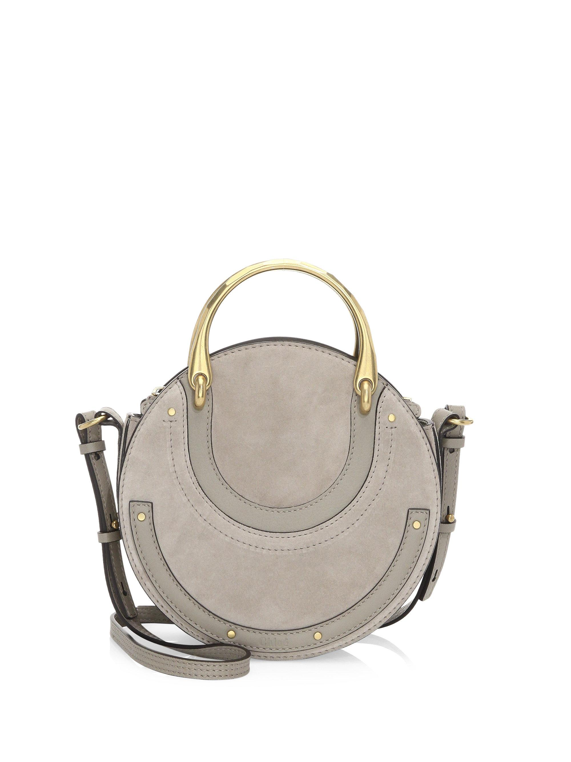 75f1c7ea5c Chloé Gray Small Pixie Suede & Leather Top Handle Bag