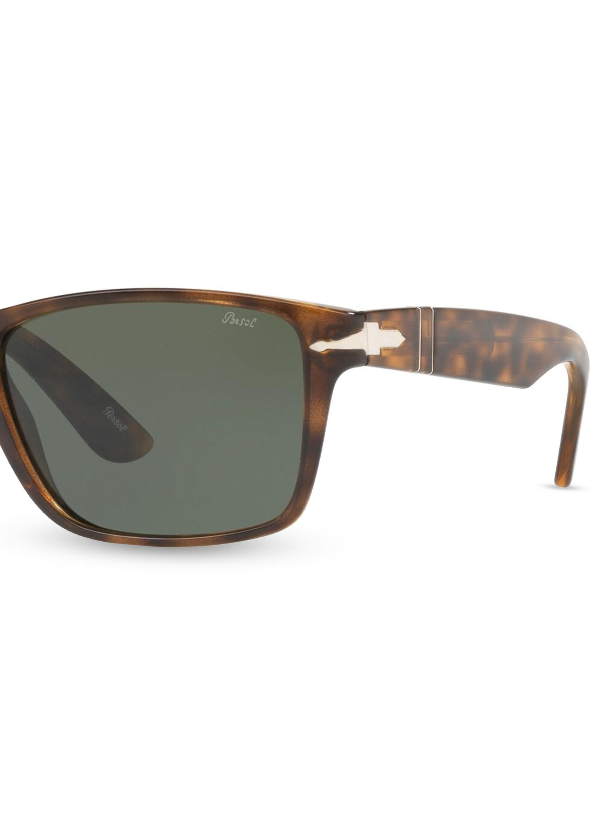 7b24637727274 Persol Men s 58mm Rectangular Sunglasses - Dark Havana in Brown for Men -  Lyst