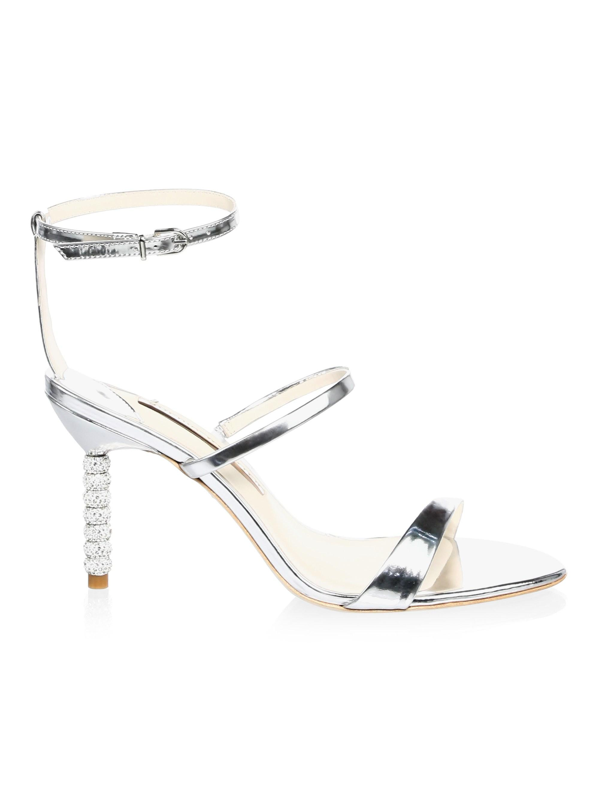 b9a2bf669eb Sophia Webster. Metallic Women s Rosalind Crystal Ankle Strap Sandals -  Silver ...