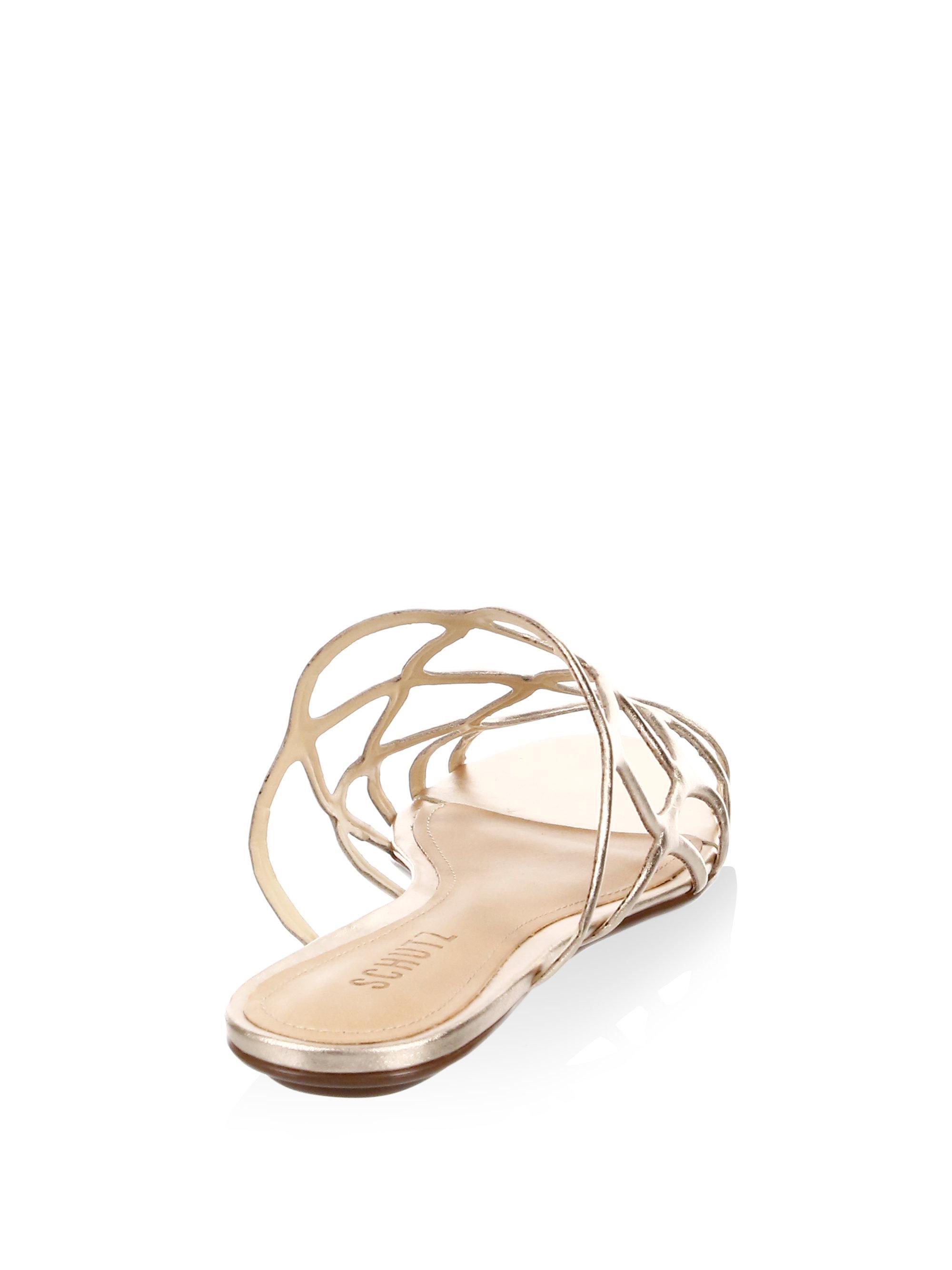 Schutz Nuray Leather Sandals fABELYZ