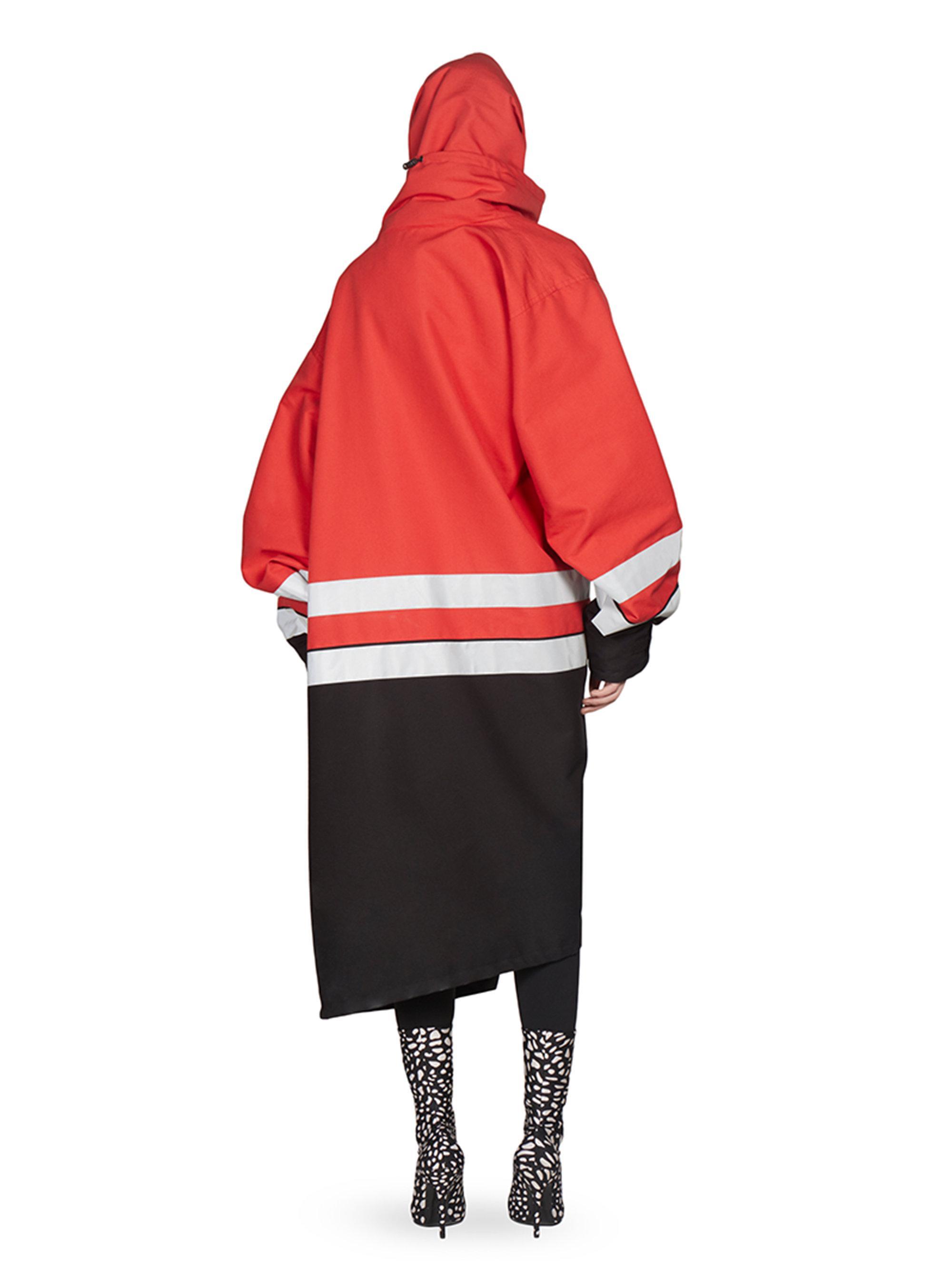 0229326a1d0adb Balenciaga Cotton Canvas Logo Jacket in Red - Lyst