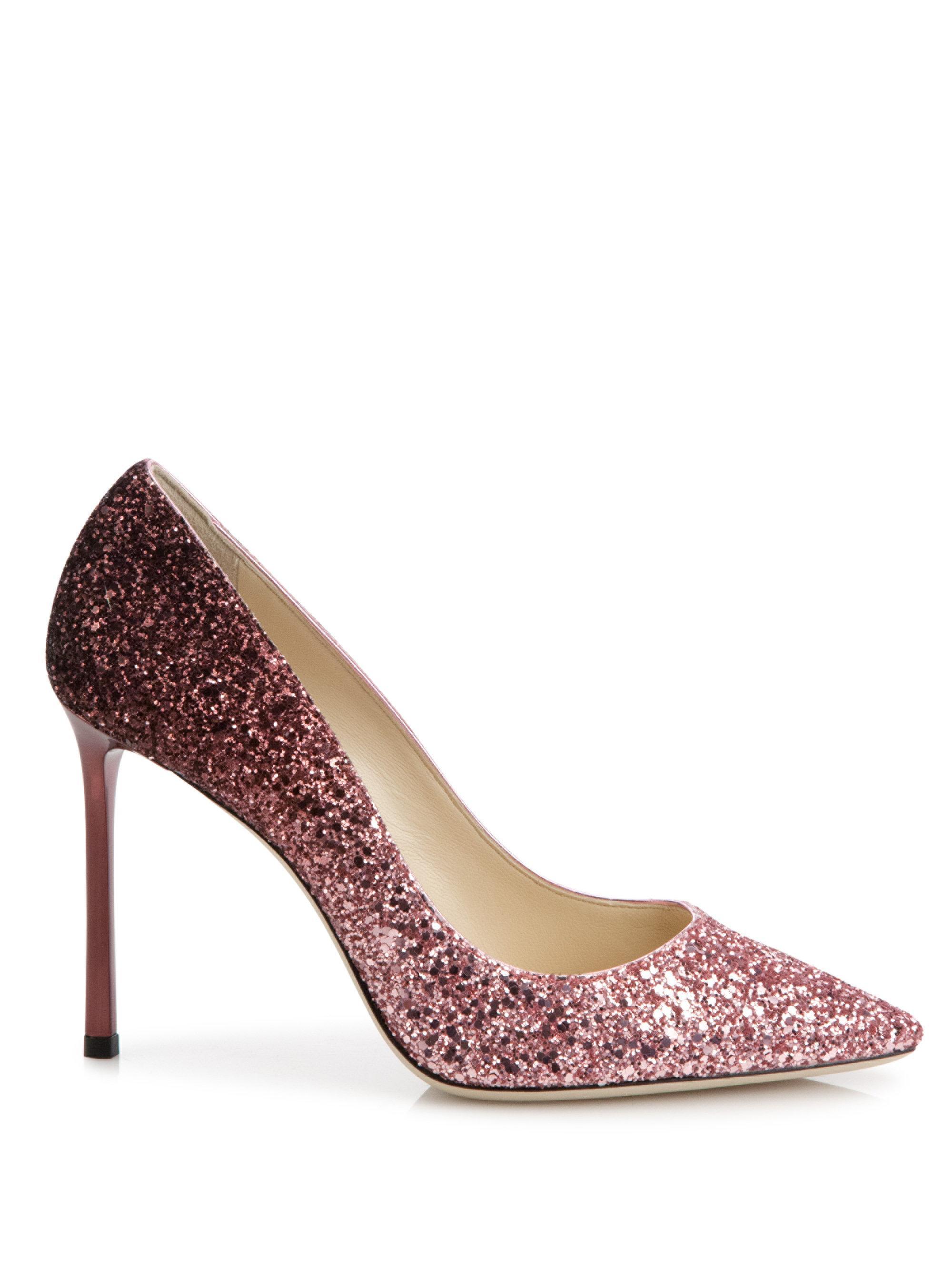 69e2c88bb08 ... clearance romy degrad glittered leather point toe flats baby pink jimmy  choo london 6d69b ecb31
