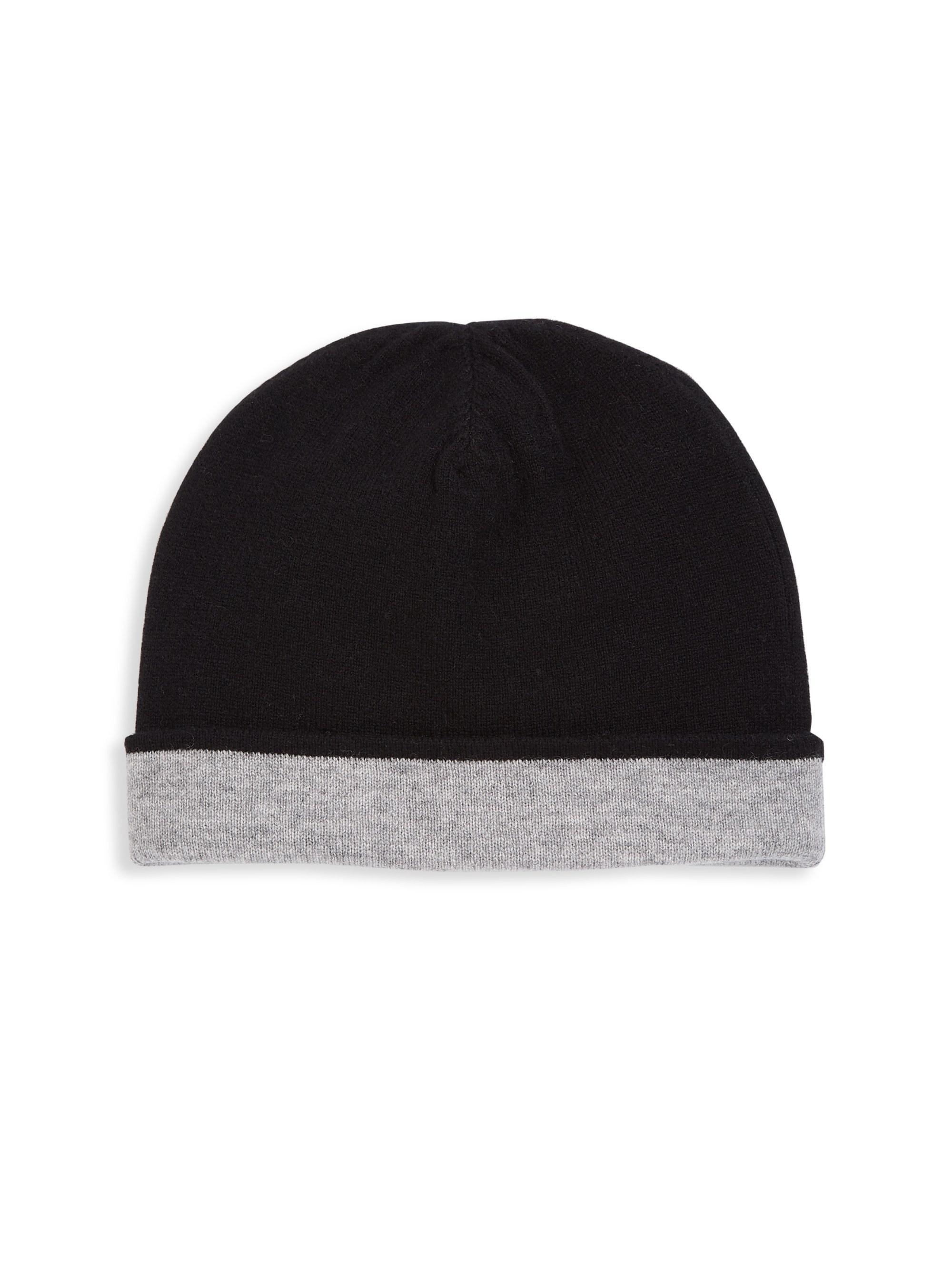 546a4bbb3e685 Saks Fifth Avenue. Black Men s Collection Cashmere Double Face Hat ...