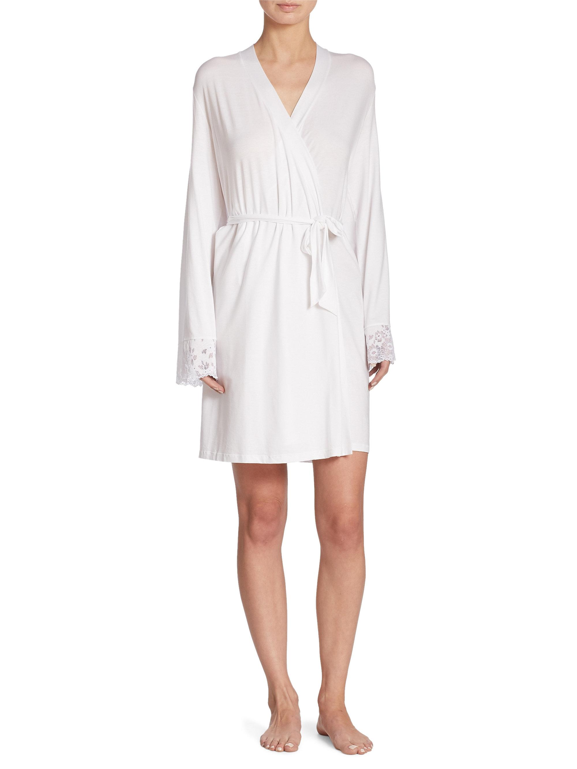 Lyst cosabella italia robe extended in white for Saks 5th avenue robes de mariage