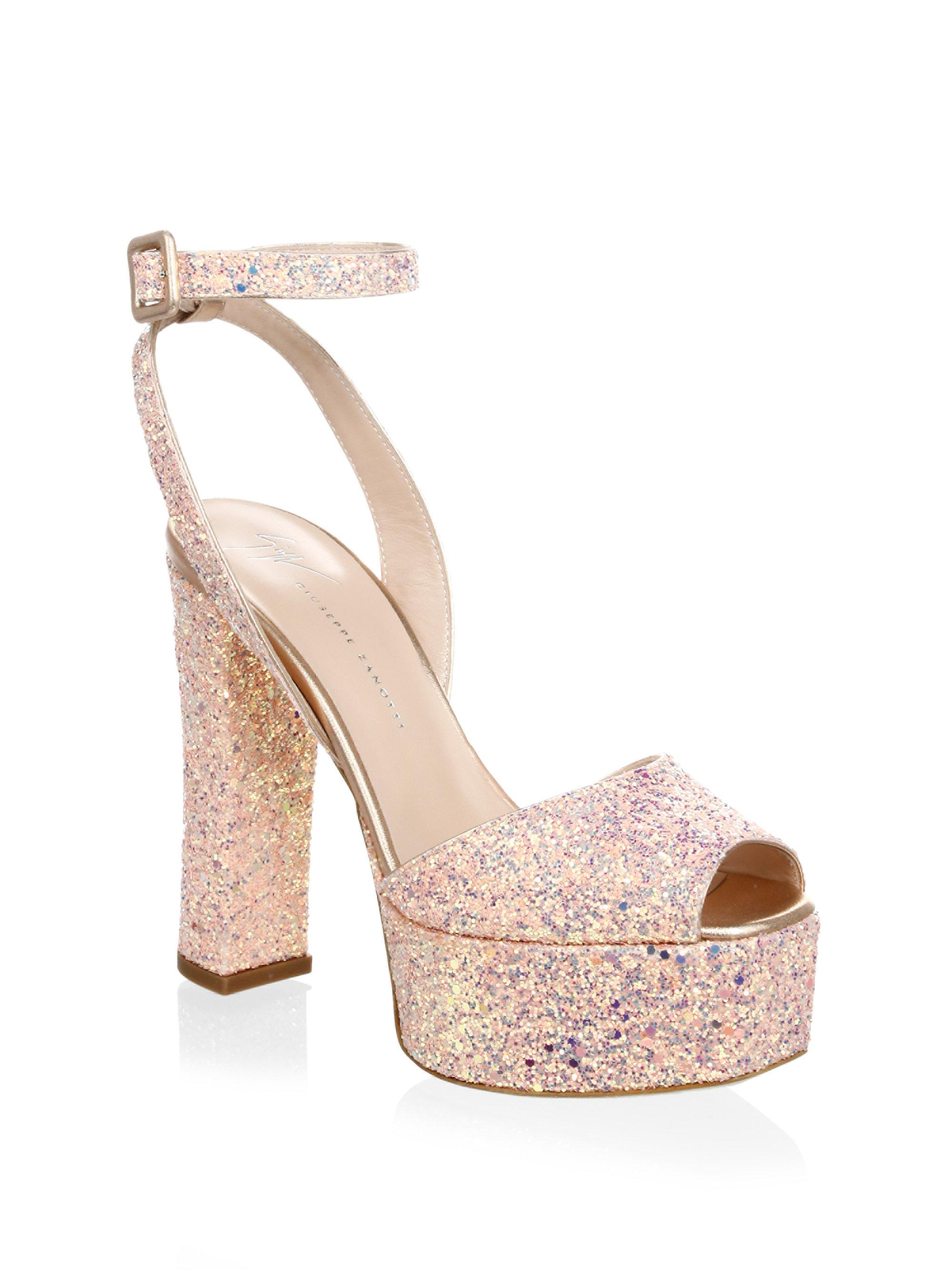 El Envío Libre Cómodo Último Giuseppe Zanotti Design Lavinia glitter sandals - Metallic WndJBzSJ6