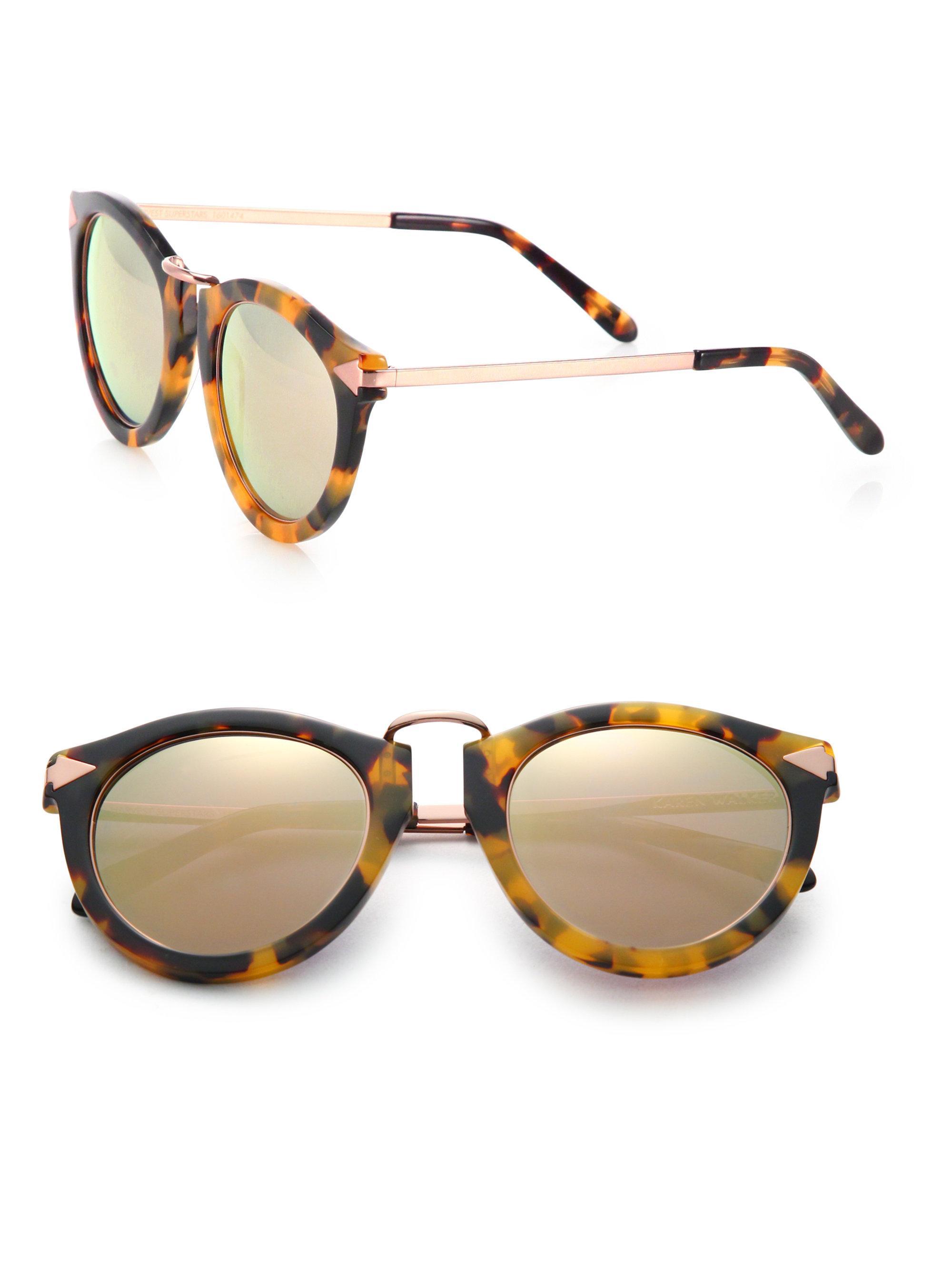 6448b0bbf532 Karen Walker. Women s Superstars Harvest Mirrored Round Sunglasses