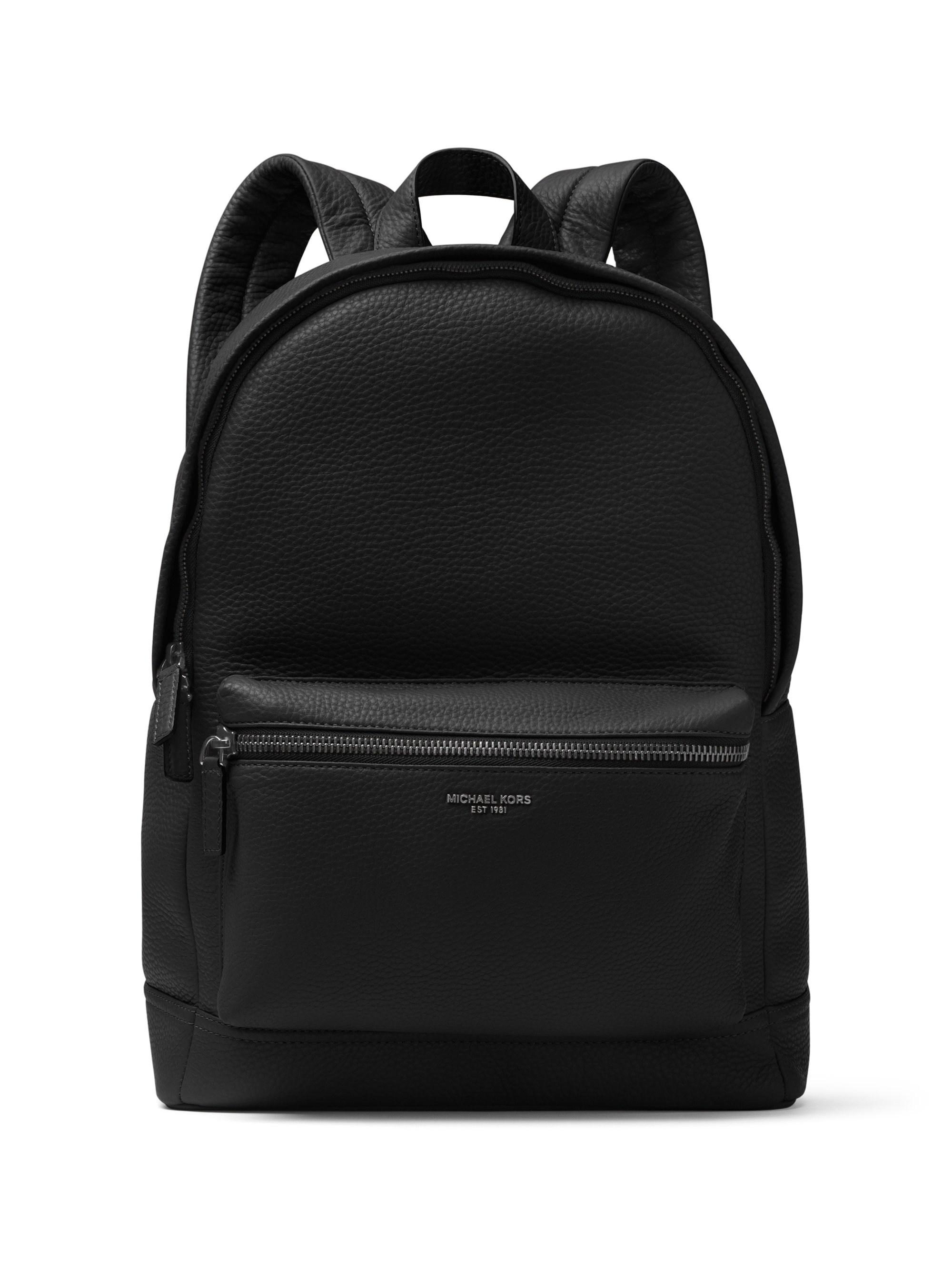 665d804c0d76 Michael Kors. Black Men's Bryant Pebble-textured Leather Backpack ...