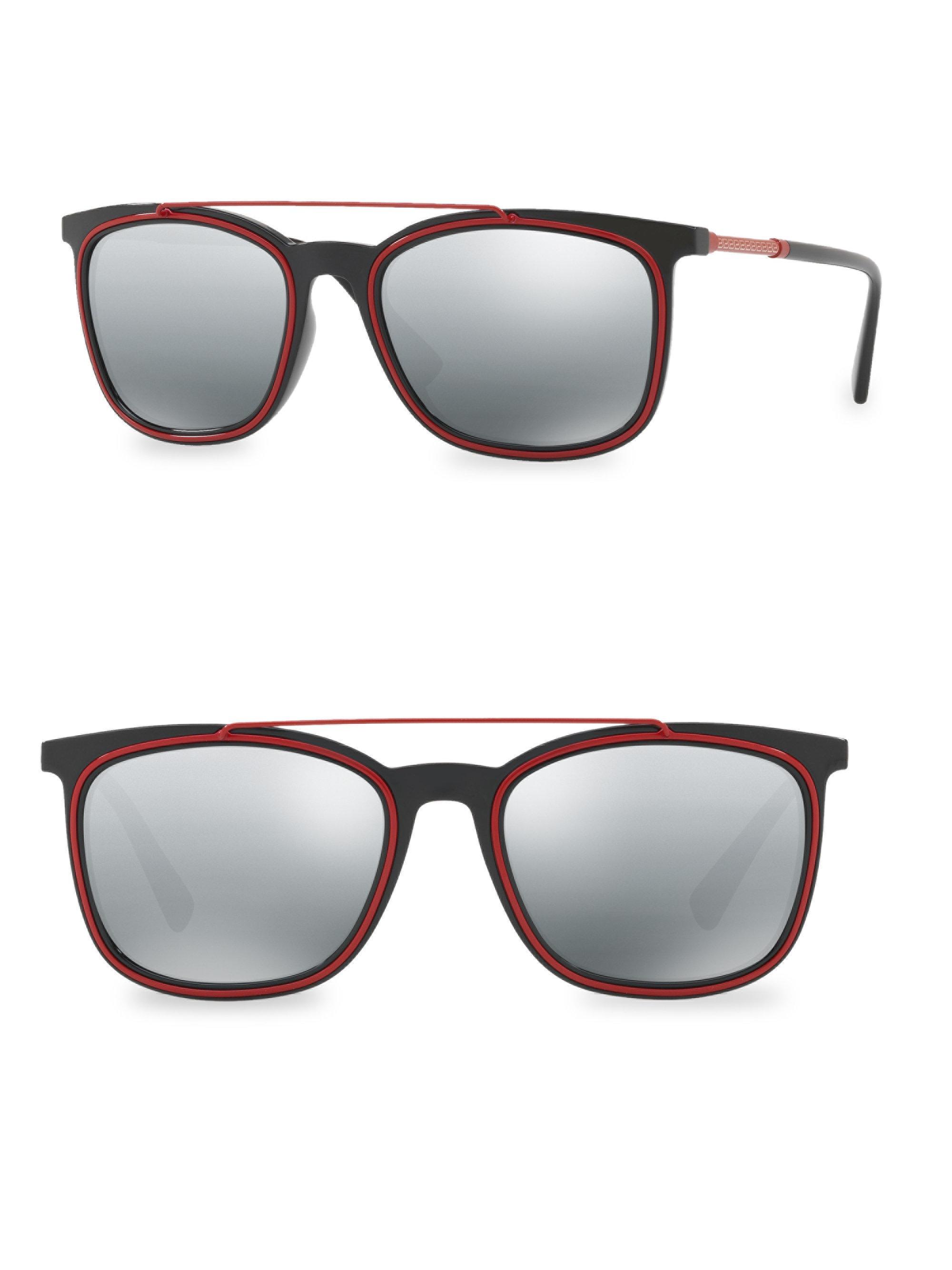 8293197346fc Versace 56mm Wayfarer Gradient Sunglasses in Gray for Men - Lyst