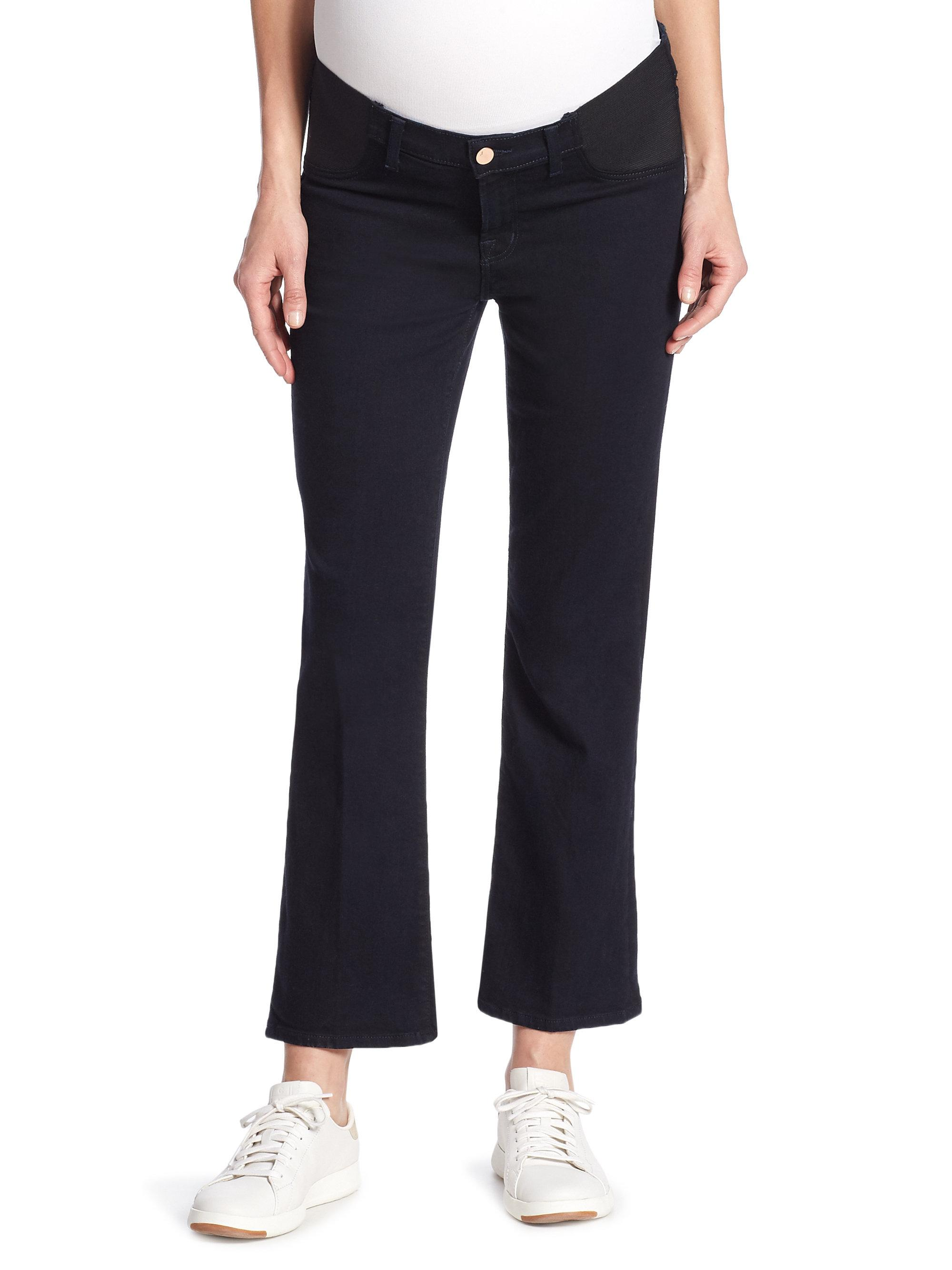 Shop stylish maternity jeans including low rise jeans, roll panel, full panel, boot cut jeans, wide leg jeans & real waist jeans.
