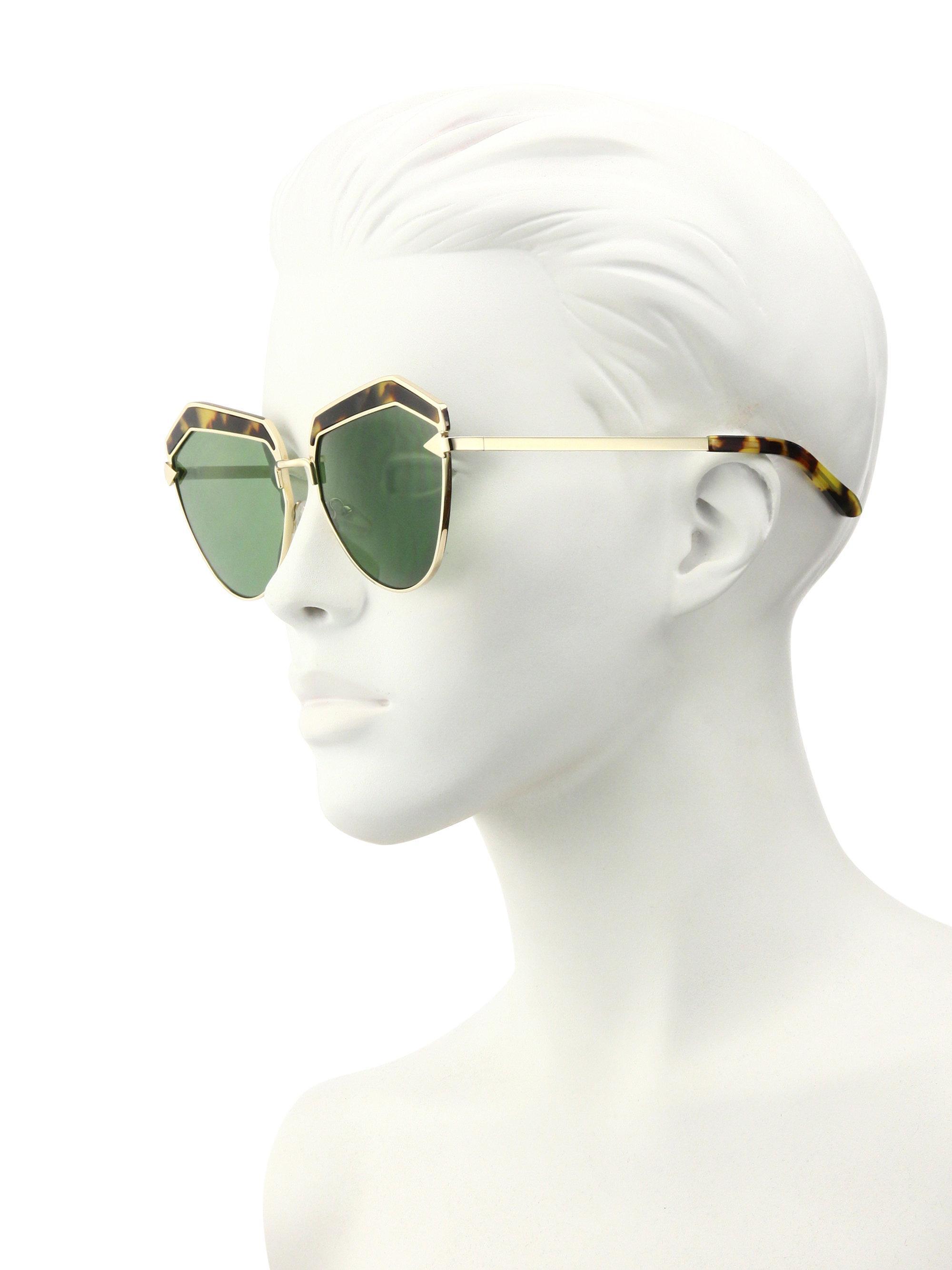4bab50df7475 Lyst - Karen Walker Jacinto 61mm Cat Eye Sunglasses in Green
