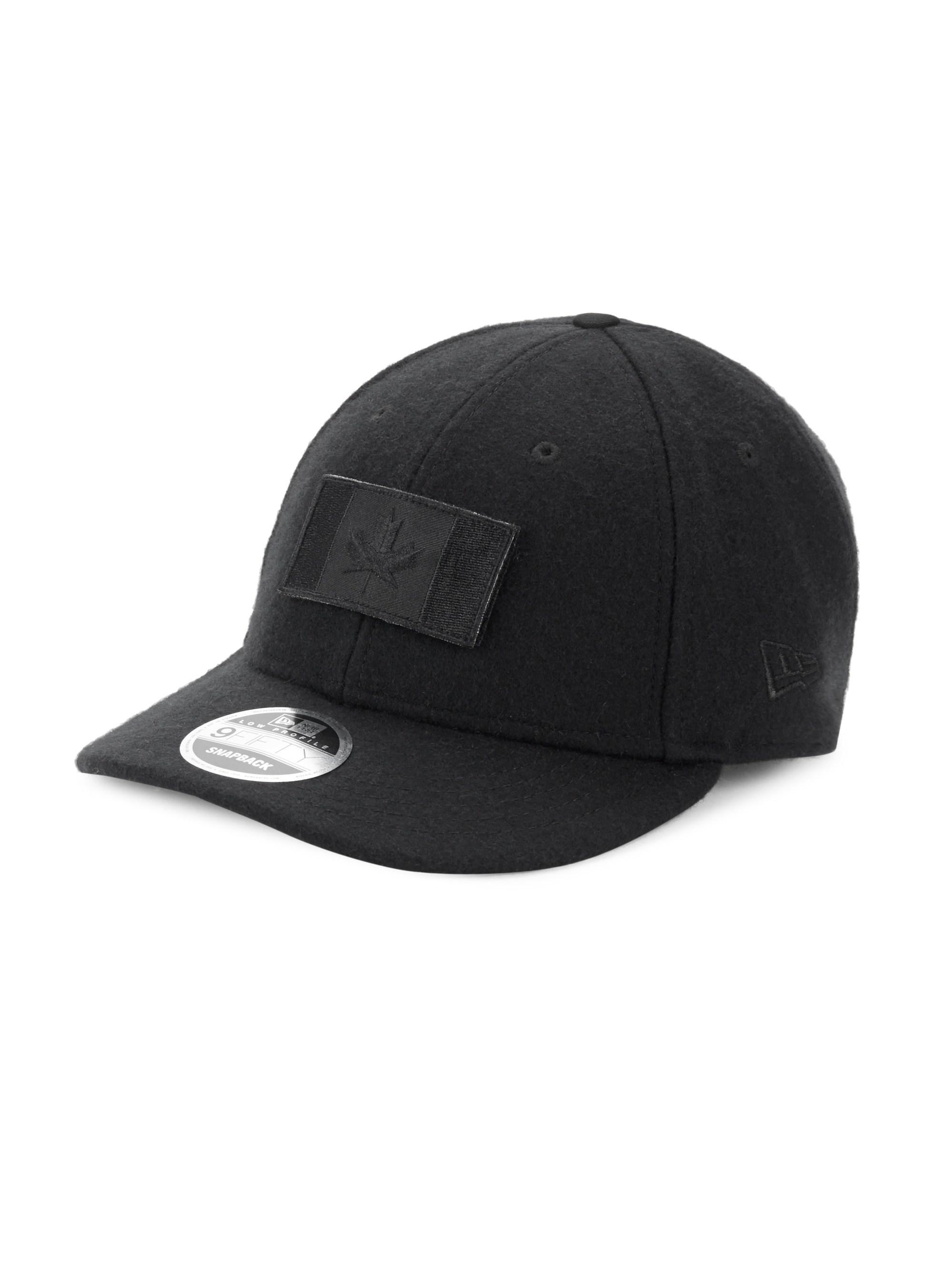 a2d6f567ddc Lyst - Canada Goose Melton Wool Baseball Hat in Black for Men