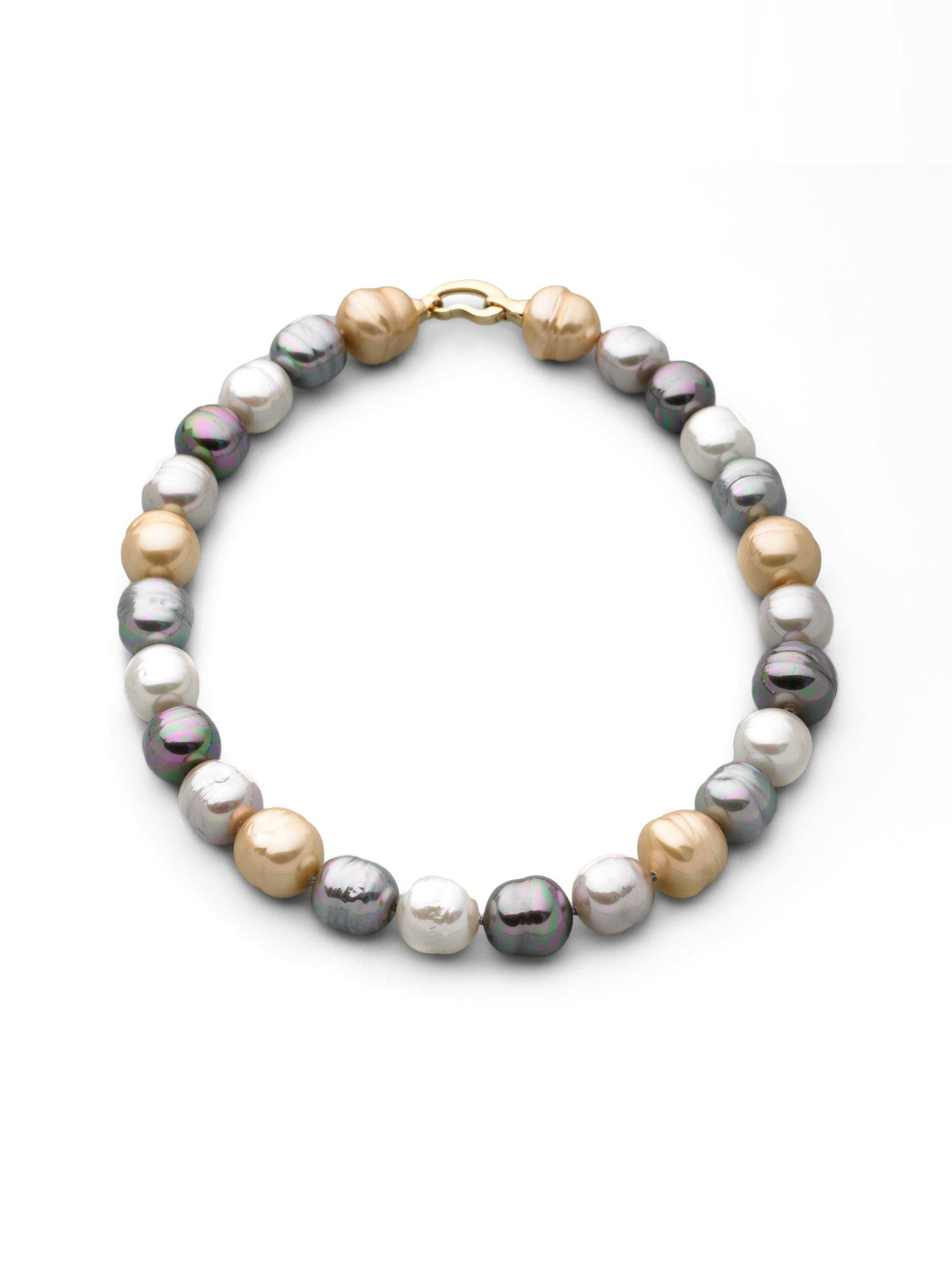 Majorica 14mm Multicolor Baroque Pearl Necklace 17 Lyst