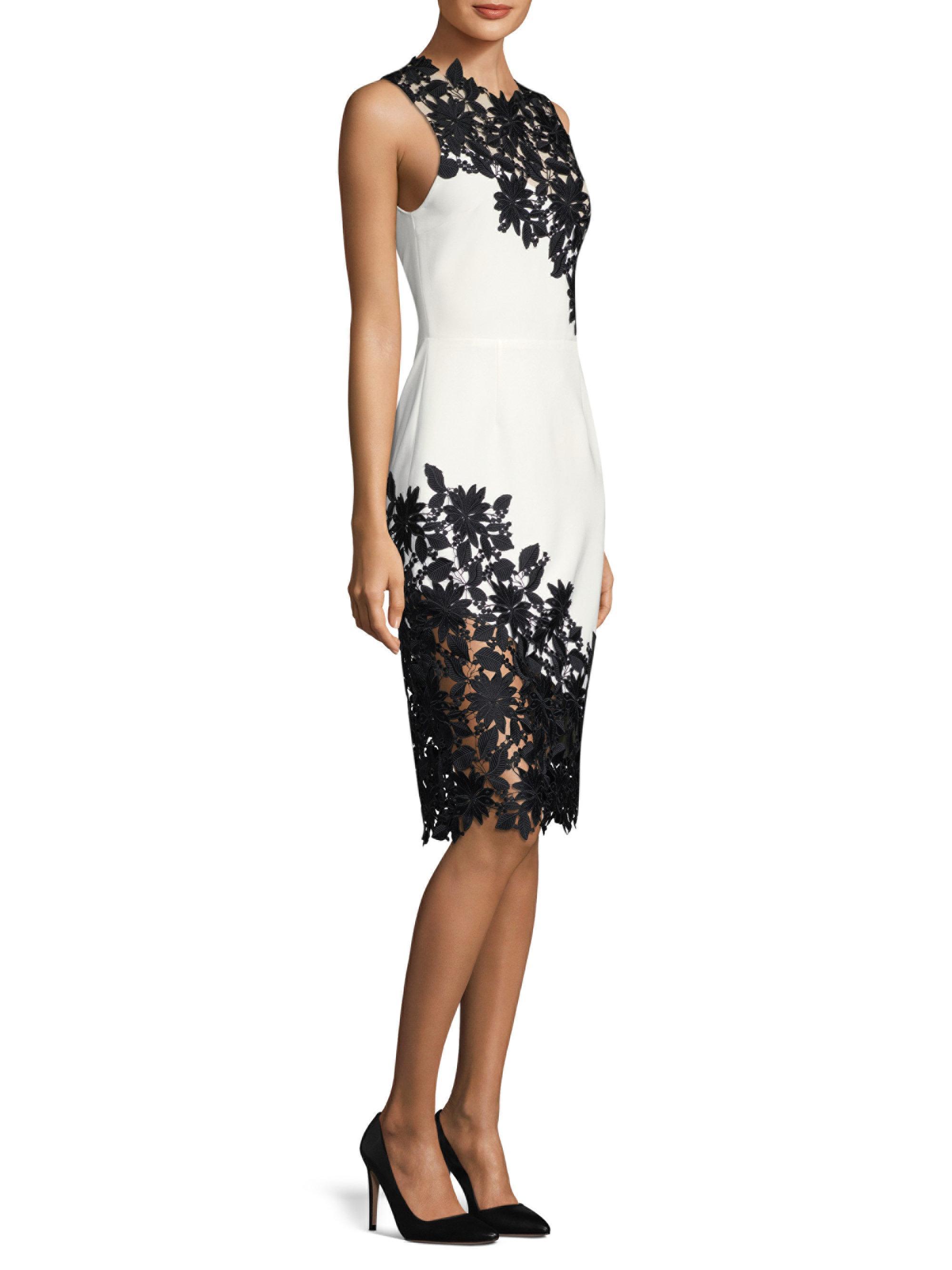 Margy Lace Trim Dress