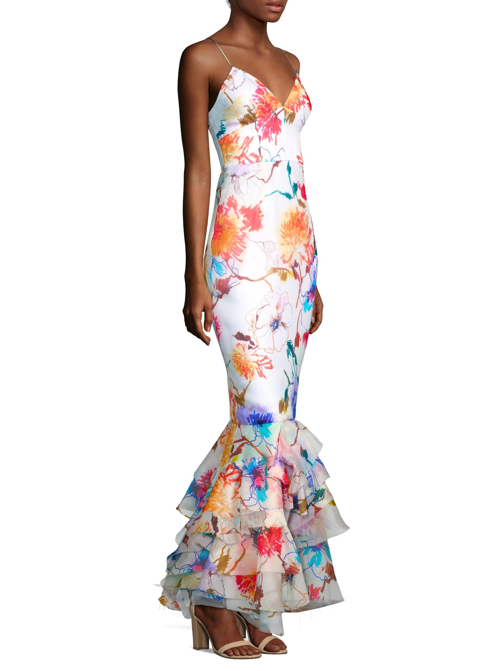 Milly Milan Floral Gown - Lyst