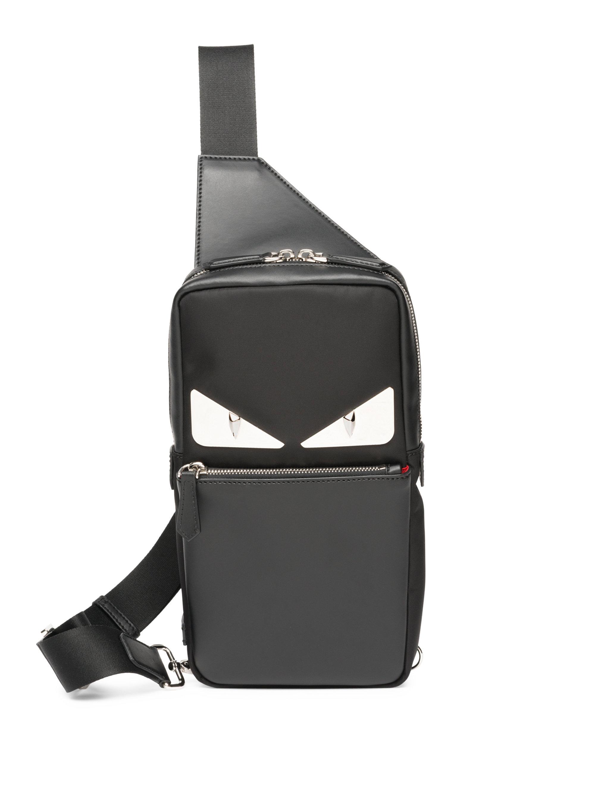 006f0604e7d2 Lyst - Fendi Monster Crossbody Bag in Black for Men