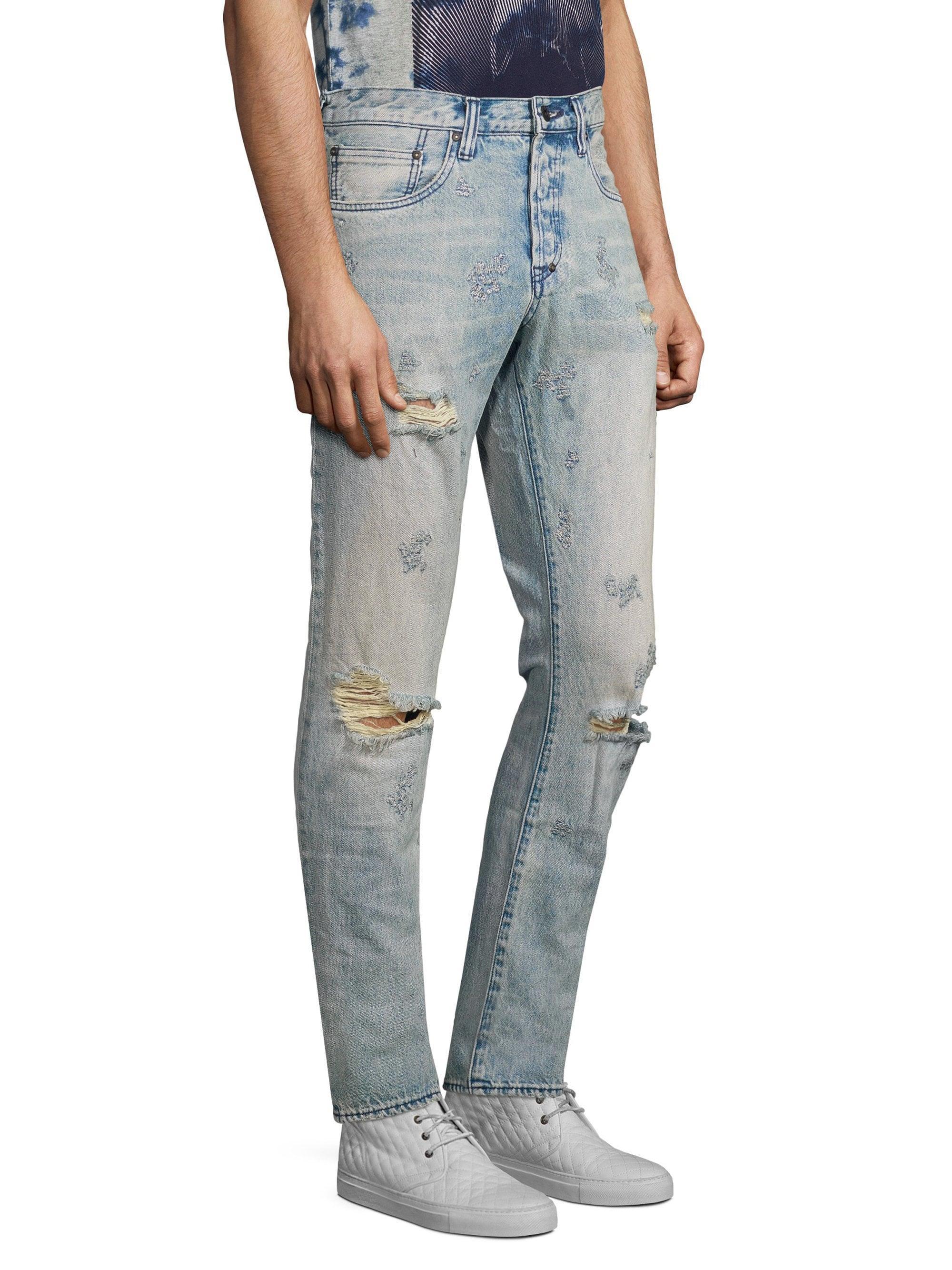 d9148b9da70 Lyst - PRPS Men s Enchanted Le Sabre Distressed Jeans - Indigo Blue ...