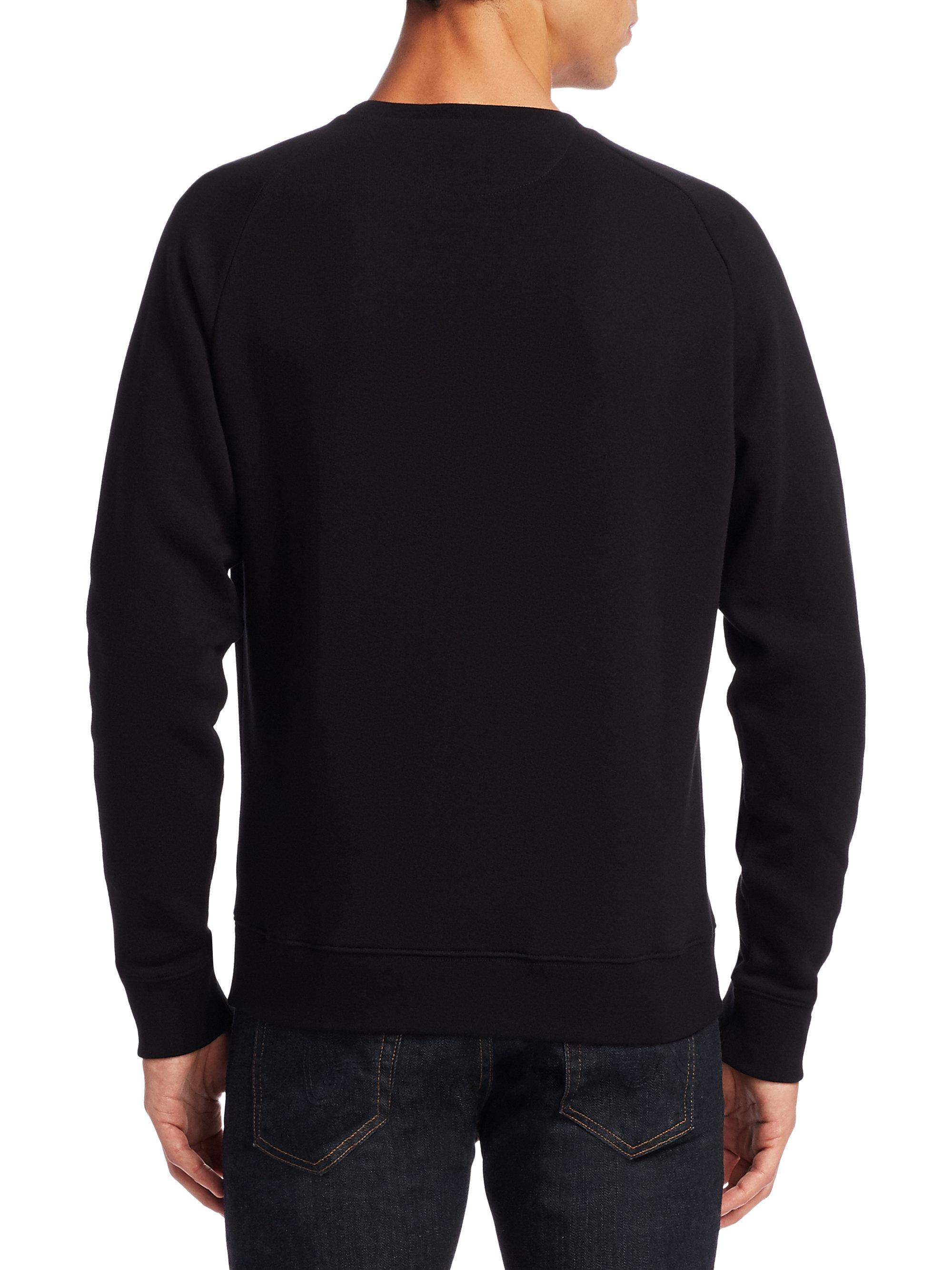Ralph lauren bear applique fleece sweatshirt in black for