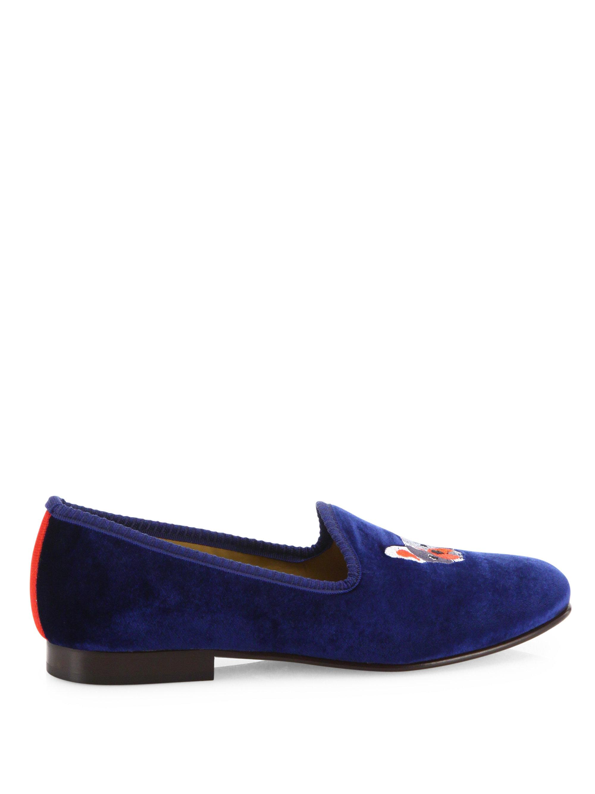 DEL TORO Lucky B$tch Velvet Smoking Loafers LXySVe
