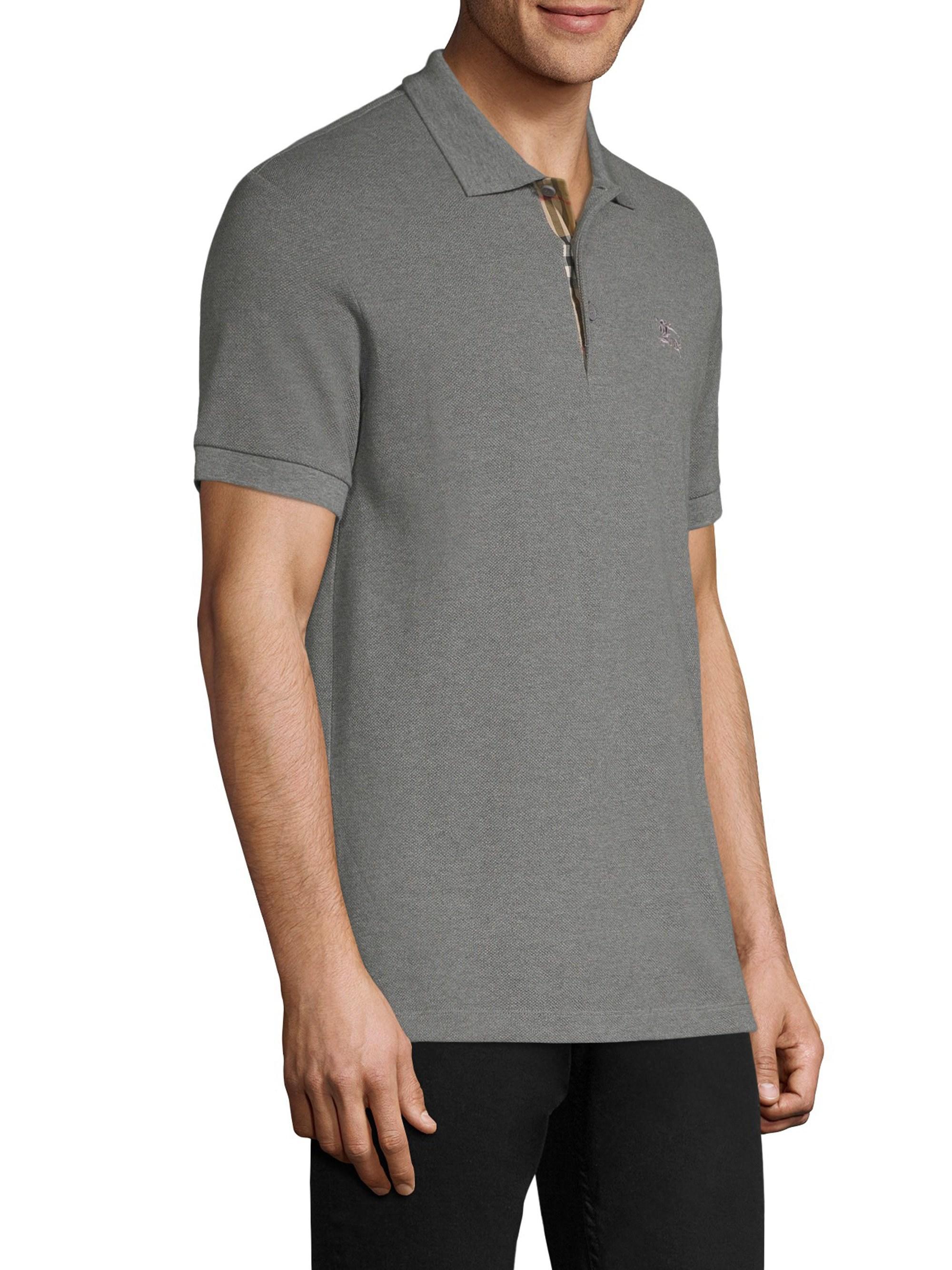 c3ca5a2f Lyst - Burberry Hartford Cotton Polo in Gray for Men