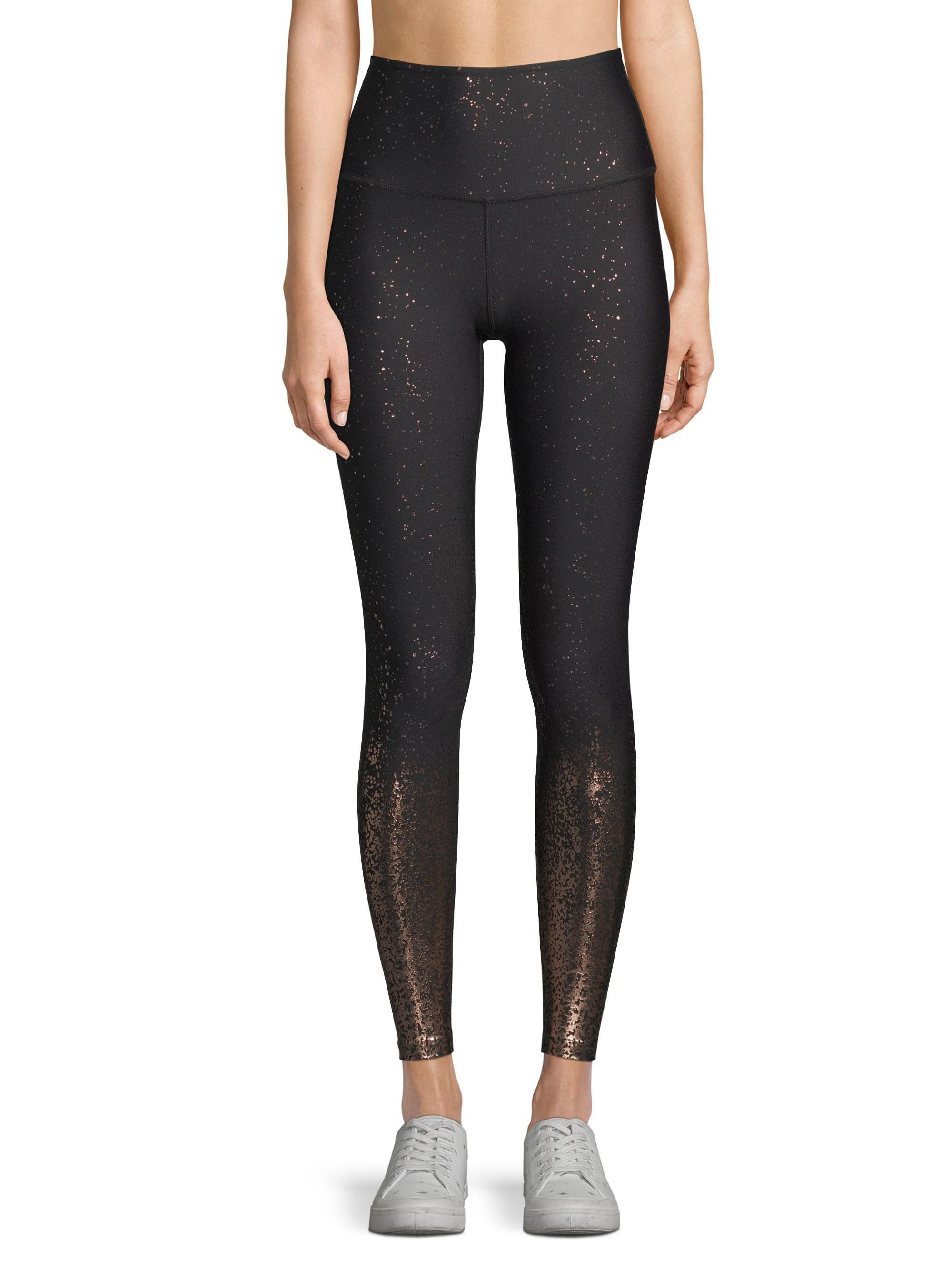 77dfd5fa1d24c Beyond Yoga Alloy Ombre Metallic High-rise Leggings in Black - Lyst