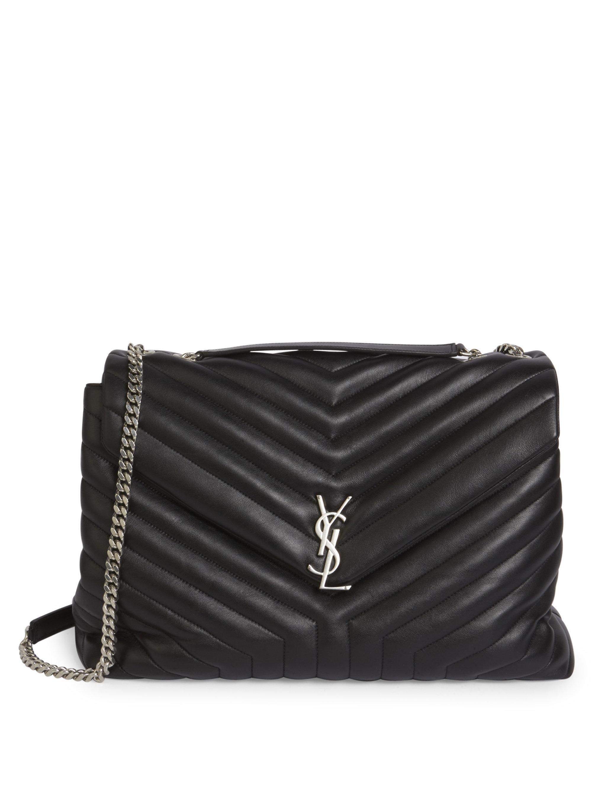 ... small monogram camera factory price 9de4d ef4fc  Saint Laurent. Womens  Black Large Lou Lou Leather Chain Shoulder Bag sale retailer f79d6 41f15 .  ... 137f504175743