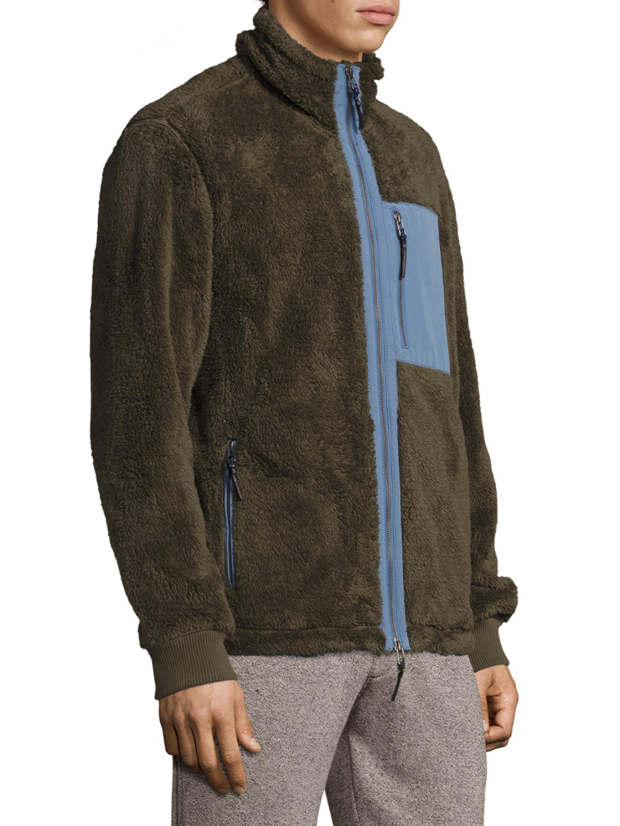 Sherpa Fleece Full Zip Hoodie Natural | Surfside Supply Co
