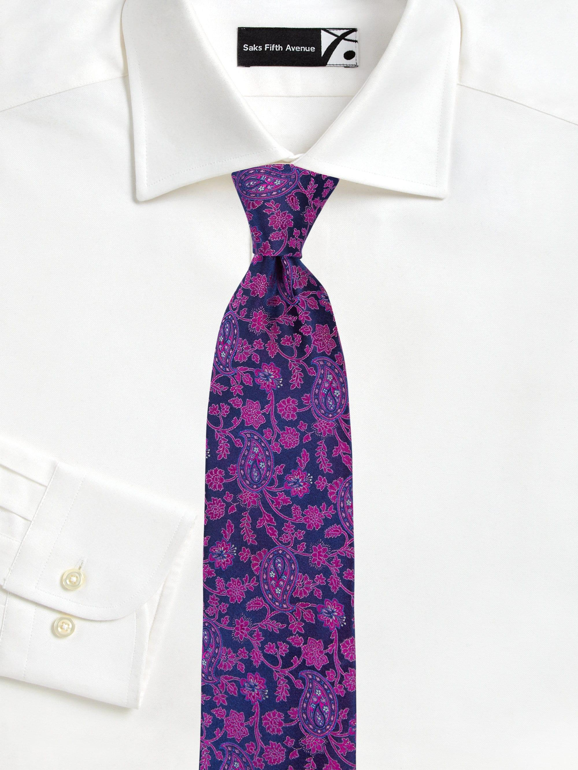b23770114f77 Canali Men's Floral Paisley Silk Tie - Purple in Purple for Men - Lyst