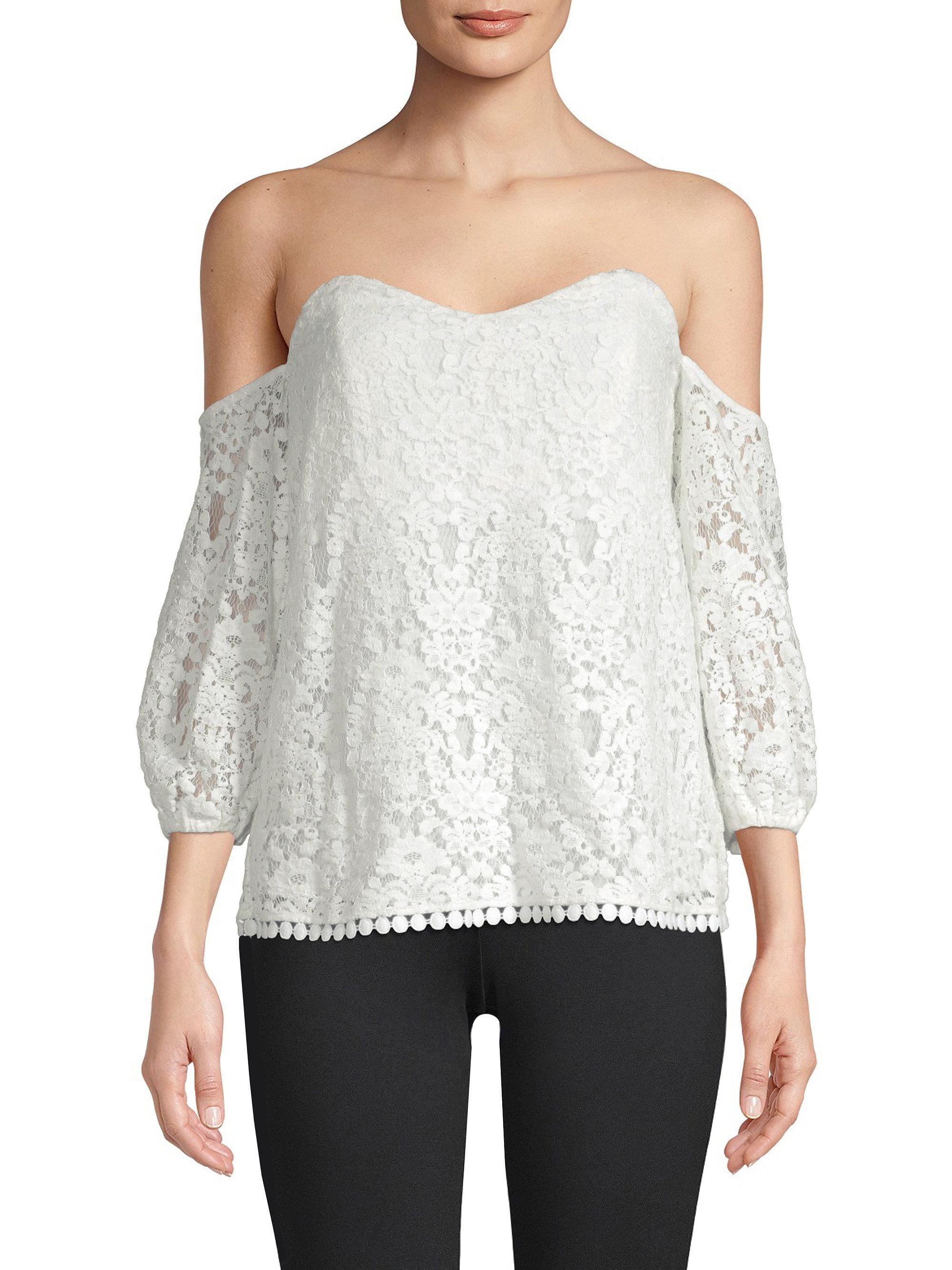 4a588d735c6c2 Lyst - Bailey 44 Crochet Lace Off-the-shoudler Top