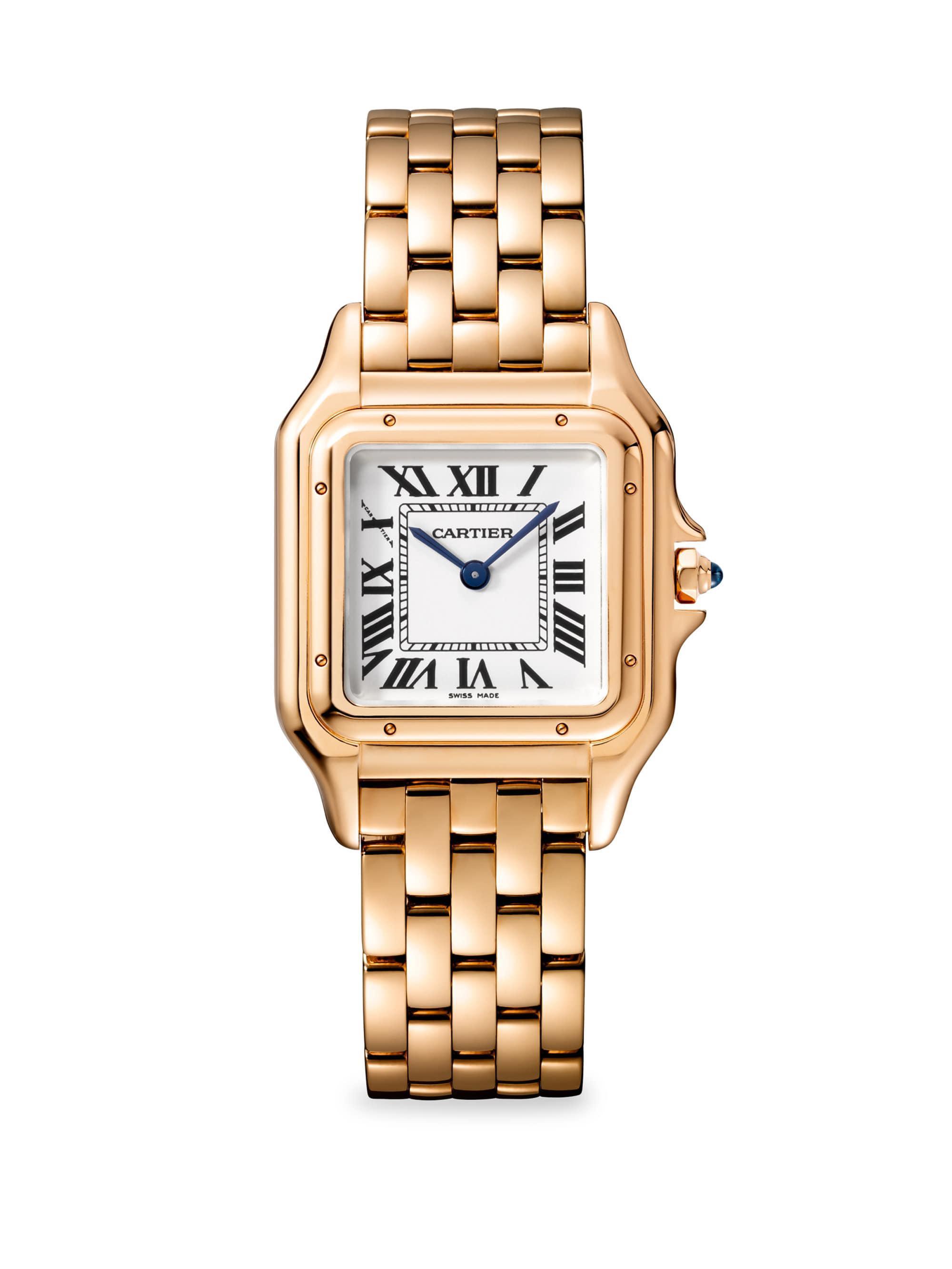 9949bc1d53b3e Cartier Panthère De 18k Pink Gold Bracelet Watch in Metallic - Lyst